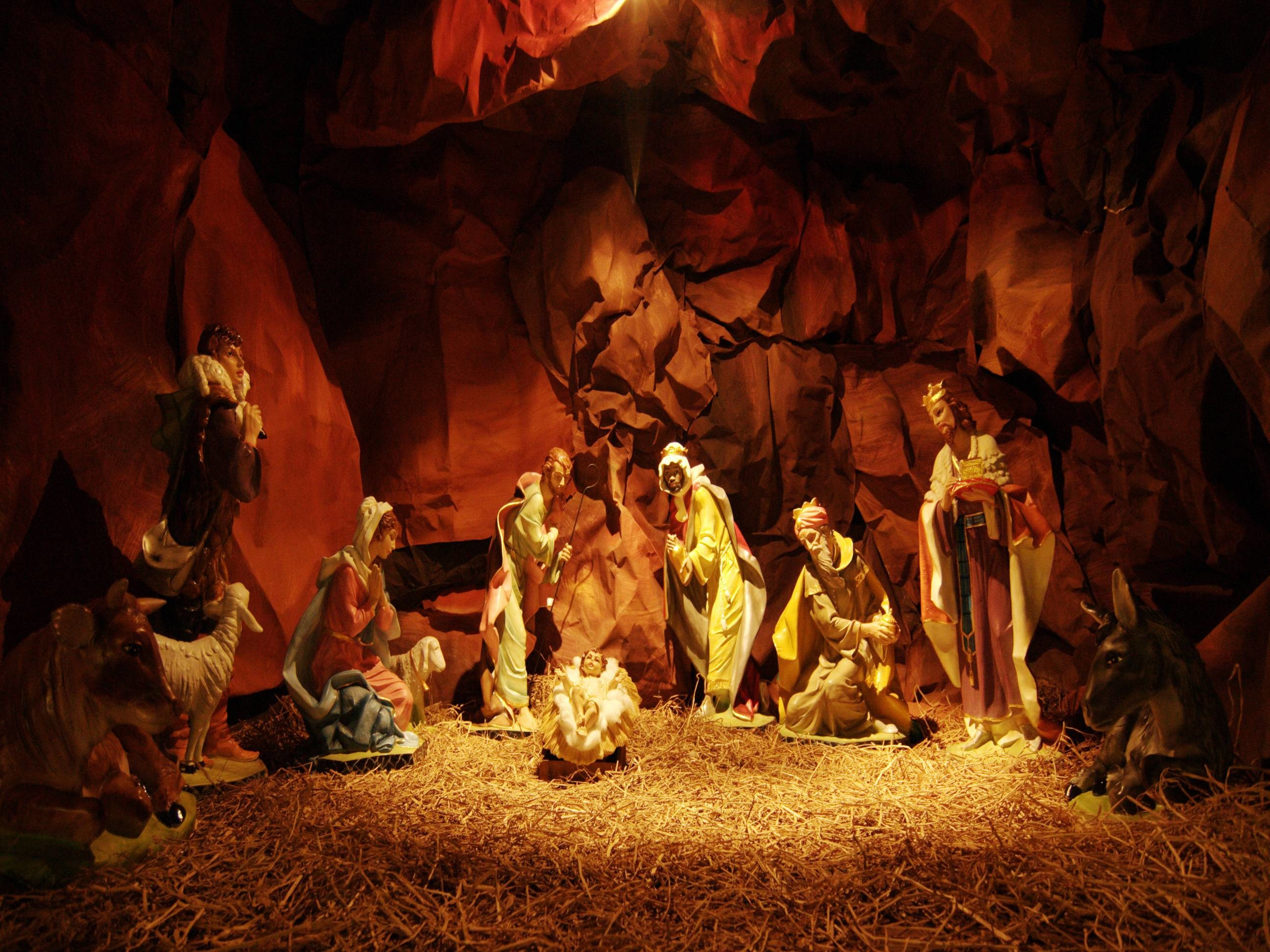 2592x1944 Download Nativity Scene Wallpaper