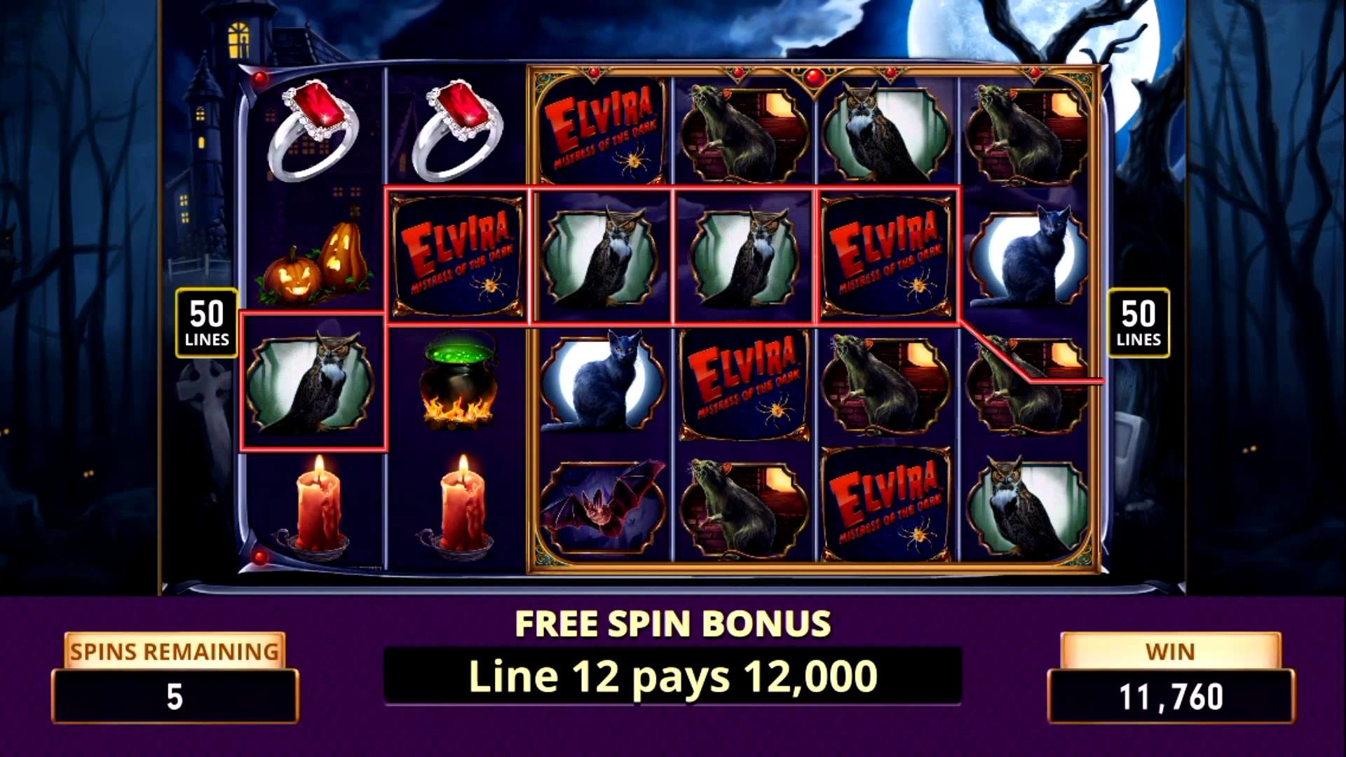 elvira slot game