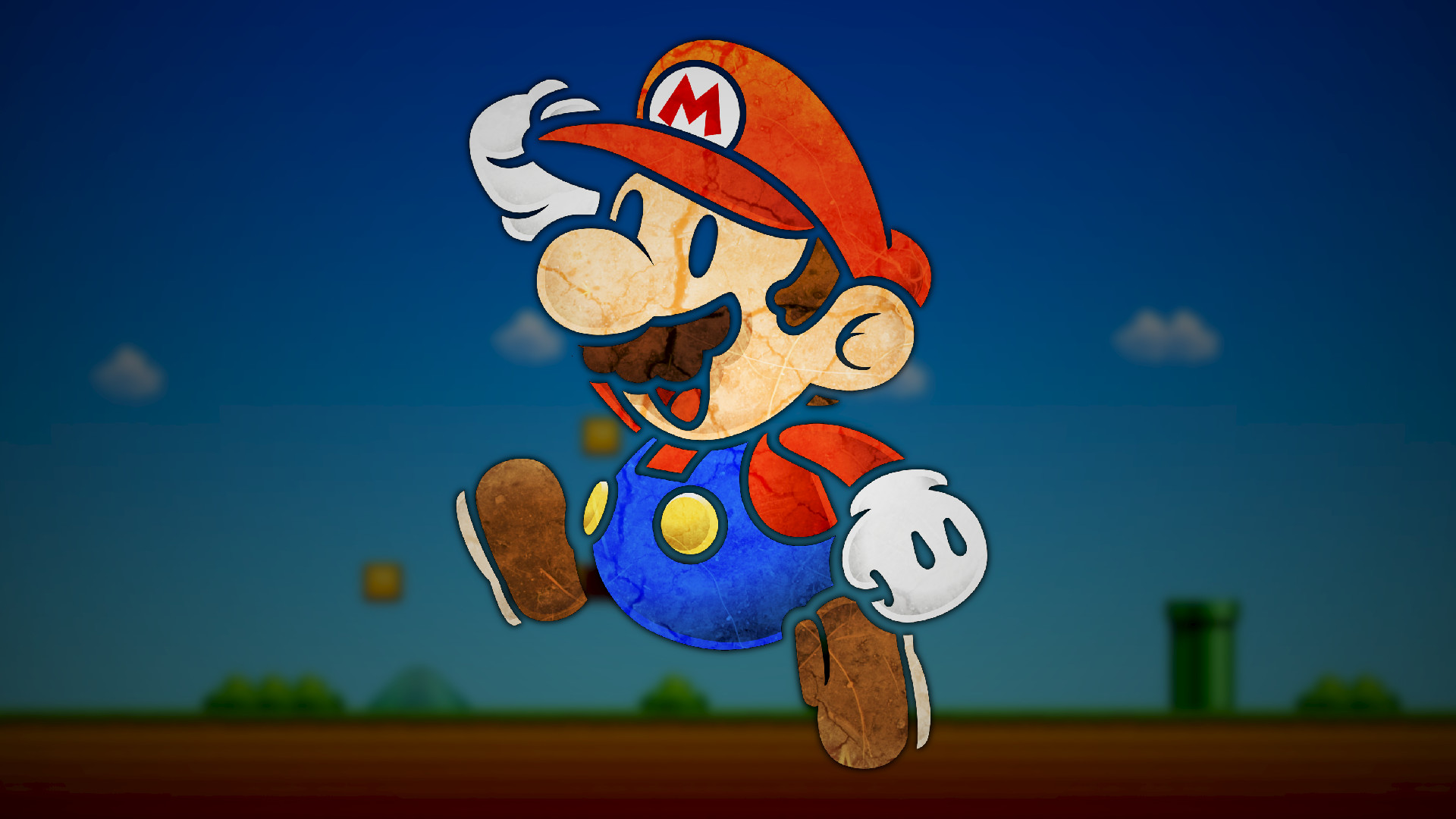 1920x1080 Super Mario, Paper Mario, Video Games, Digital Art, Nintendo .