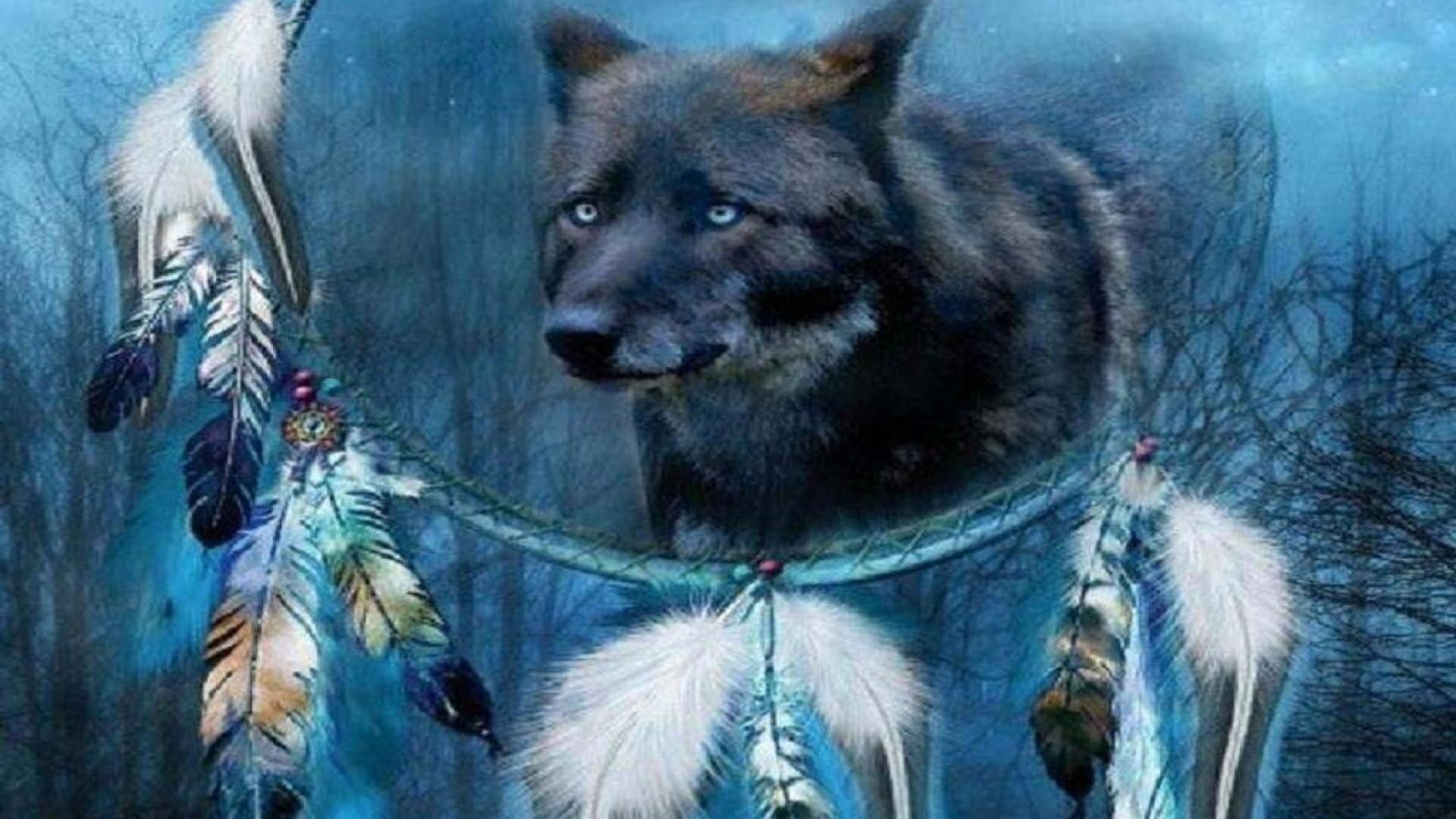 1920x1080 wolf dream catcher - Other & Animals Background Wallpapers on .