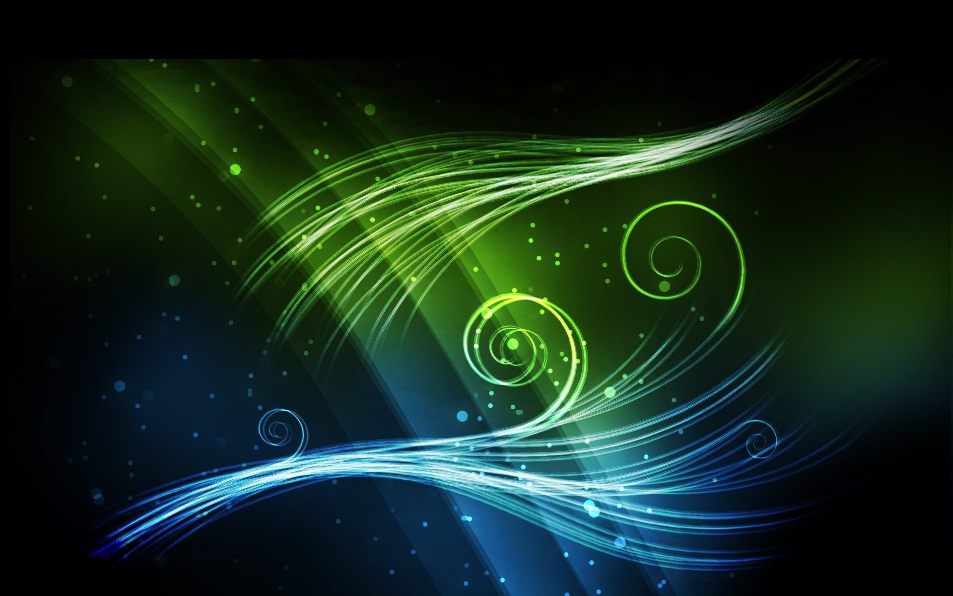 1920x1200 Blue Green Shiny Abstract