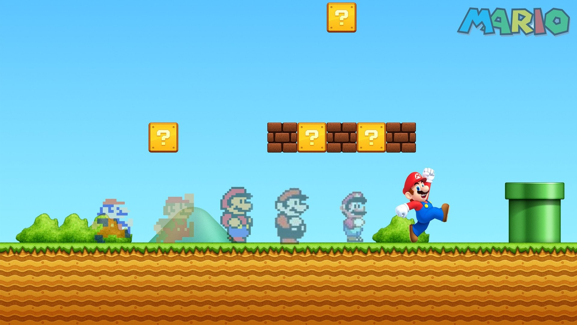 1920x1080 WallpapersWide.com | Mario HD Desktop Wallpapers for Widescreen .