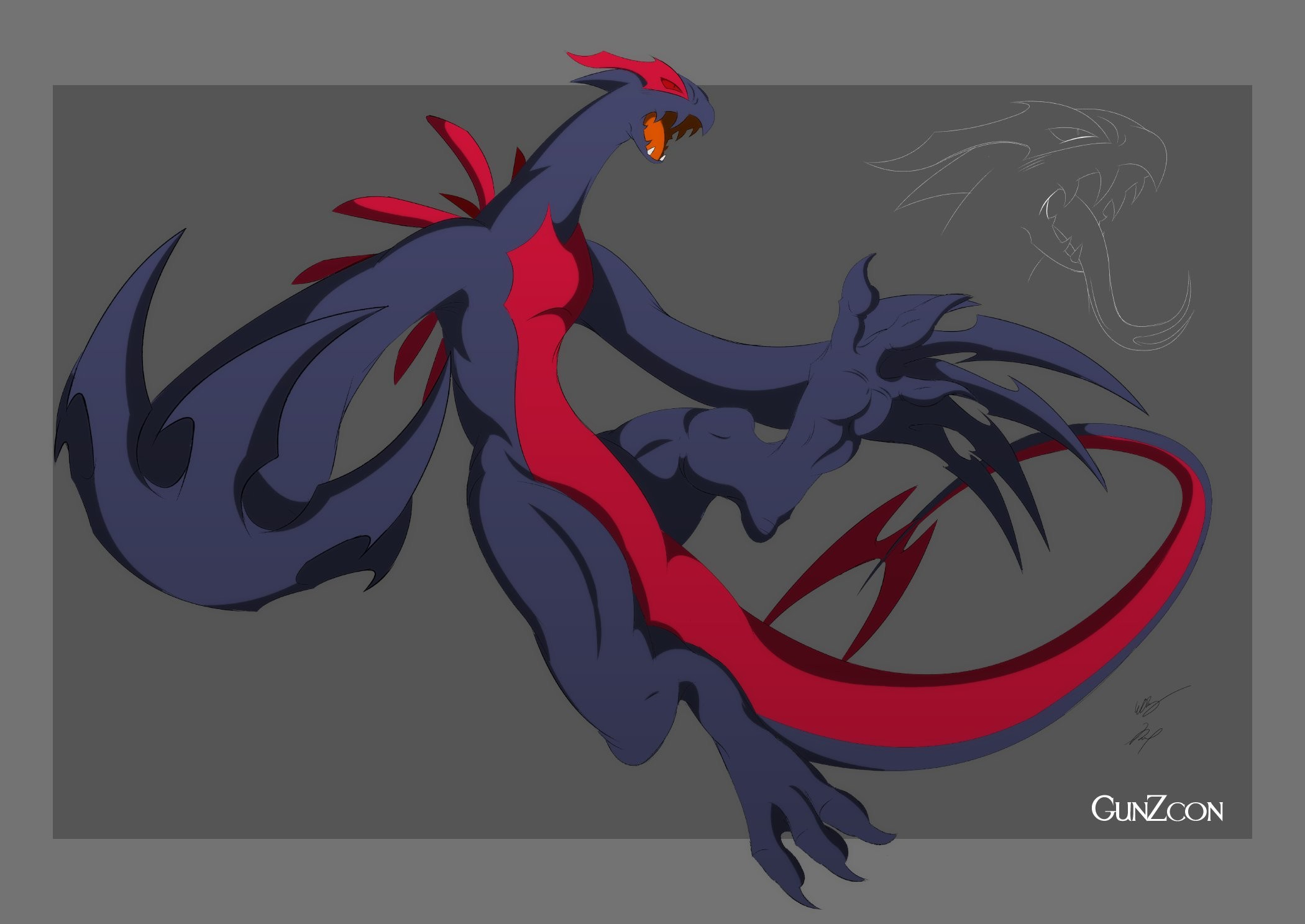 2100x1487 Shadow Lugia Hemos by GunZcon ...