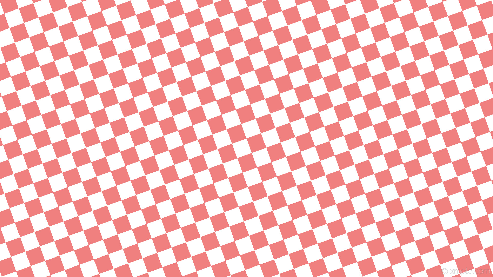 1920x1080 wallpaper red white checkered squares light coral #f08080 #ffffff diagonal  20° 60px