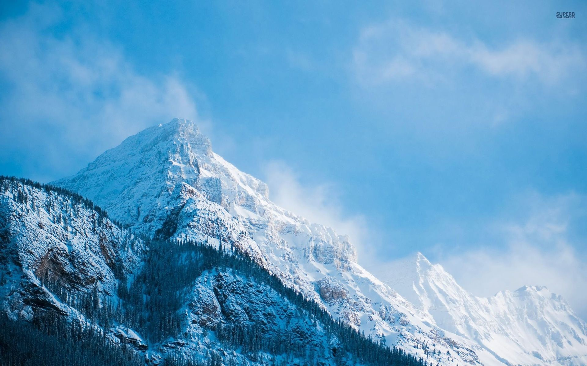 1920x1200 White & Blue Mountain Peaks wallpapers and stock photos