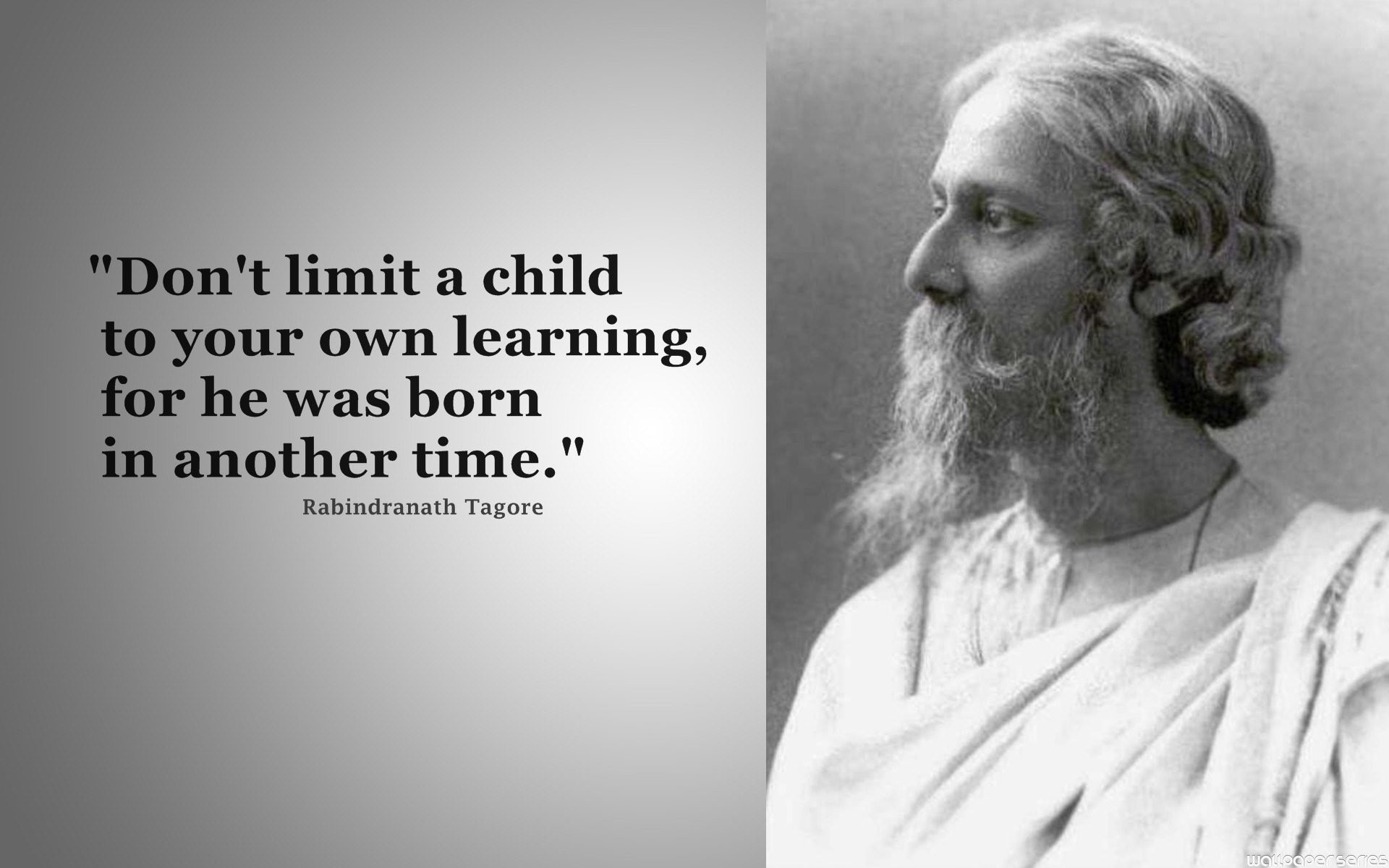 1920x1200 Rabindranath Tagore - Dont Limit A Child Quotes Wallpaper ,Images,Pictures,Photos,