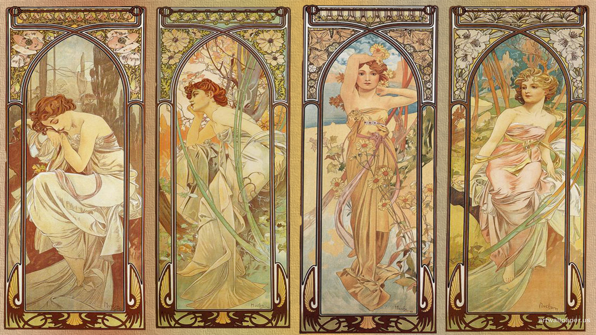 1920x1080 Alphonse Mucha Wallpapers Mobile