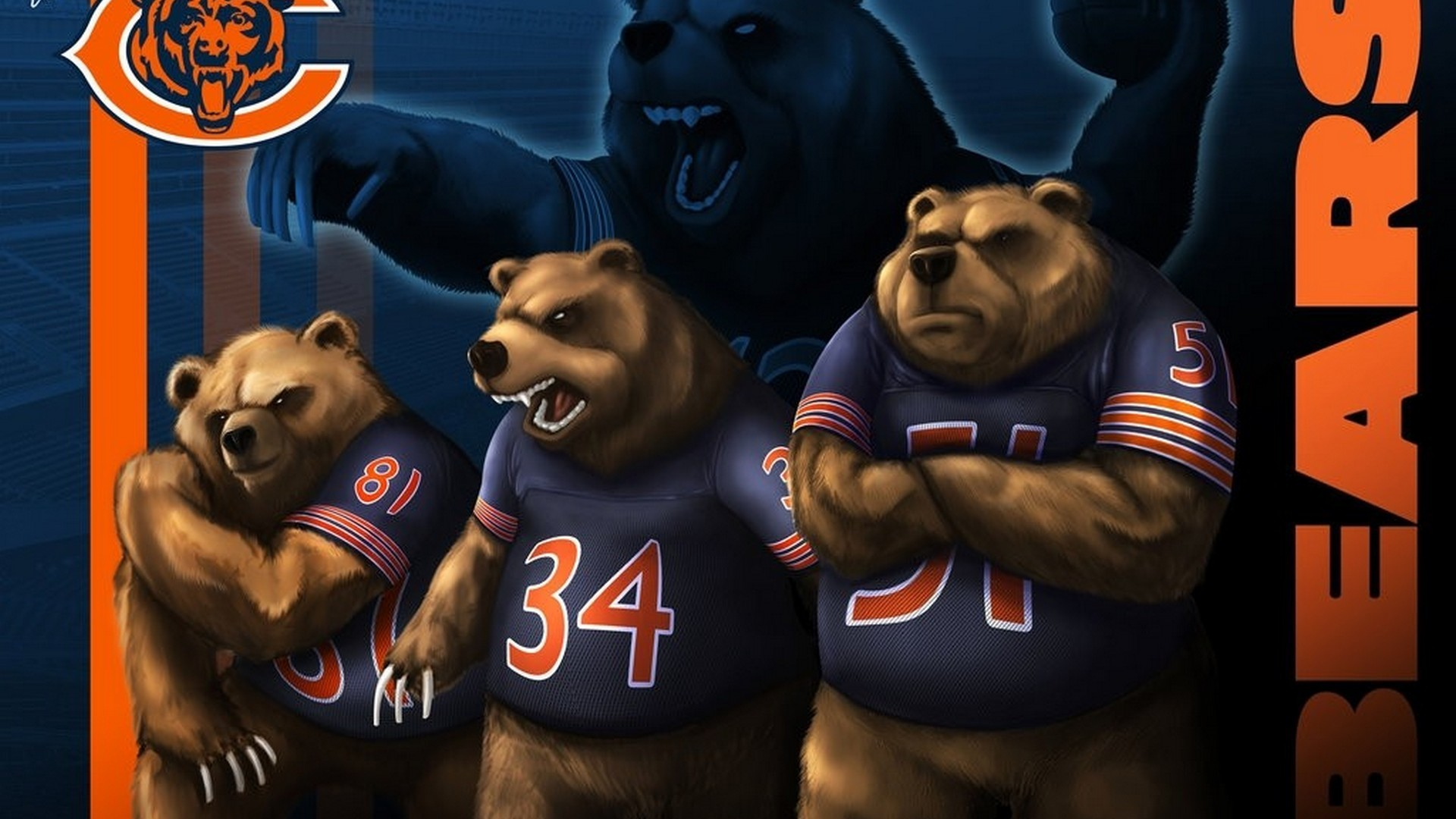 1920x1080 HD Backgrounds Chicago Bears