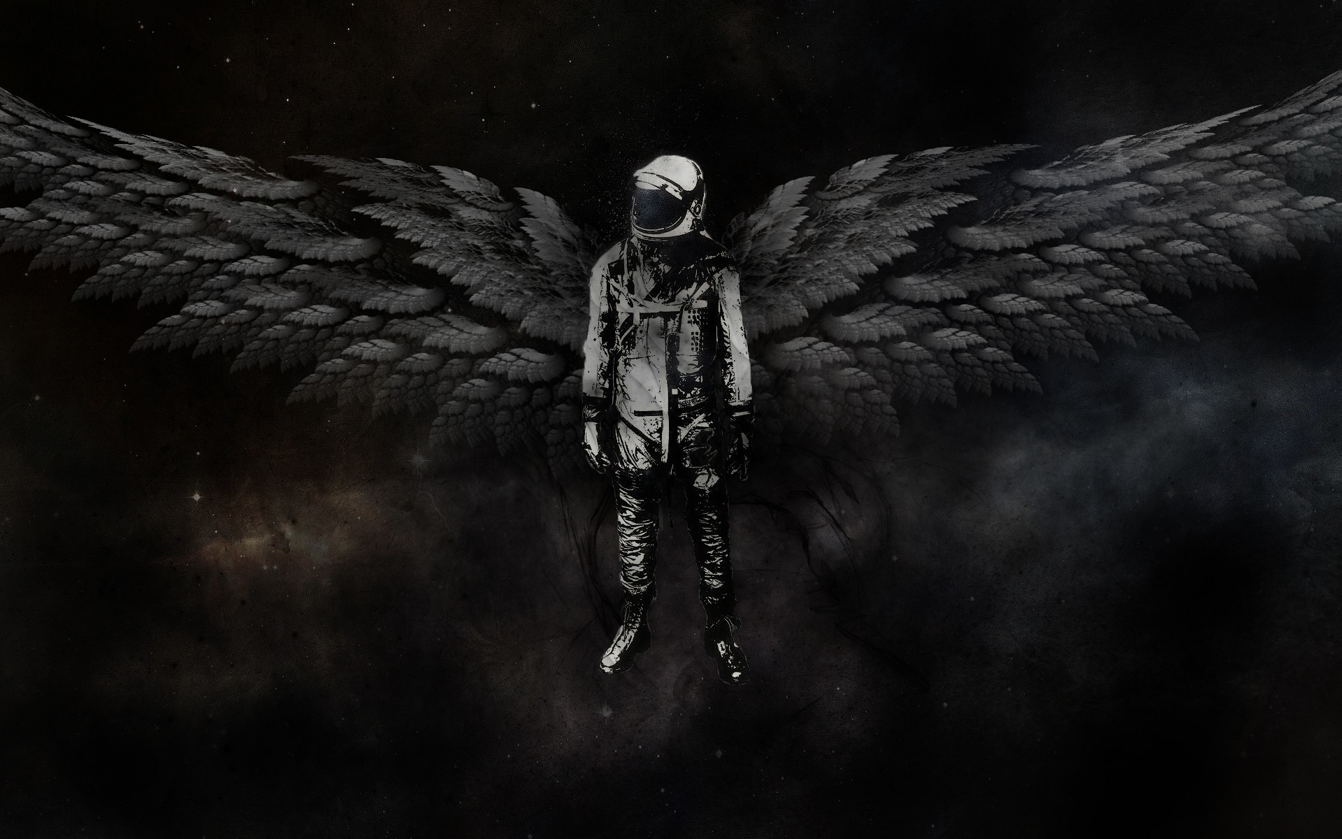 1920x1200 Outer space astronauts angel wings wallpaper |  | 16946 |  WallpaperUP