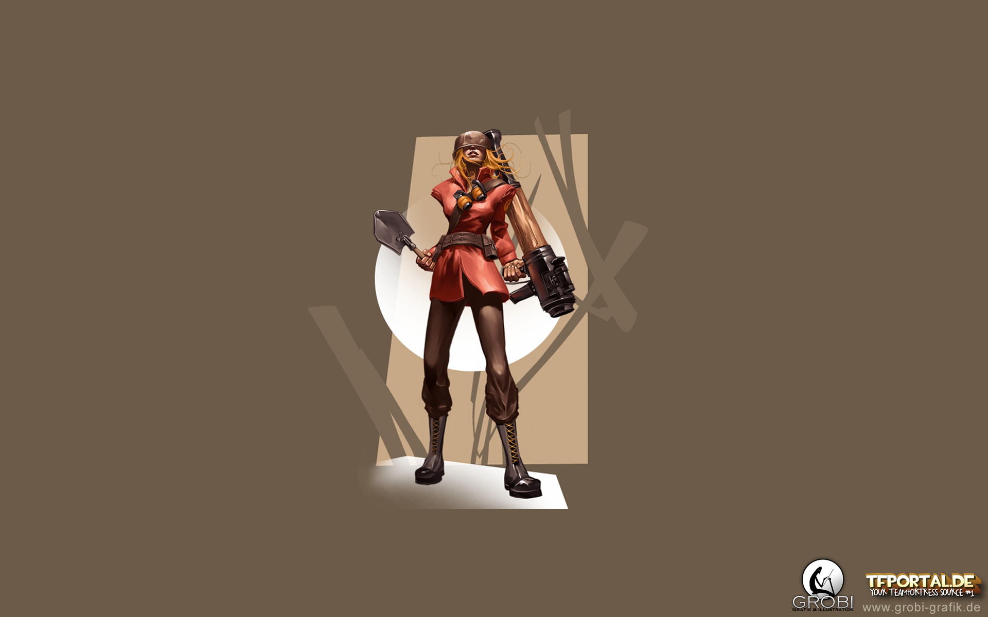 1920x1200 TF2 Girl Soldier Wallpaper. 1920x1080