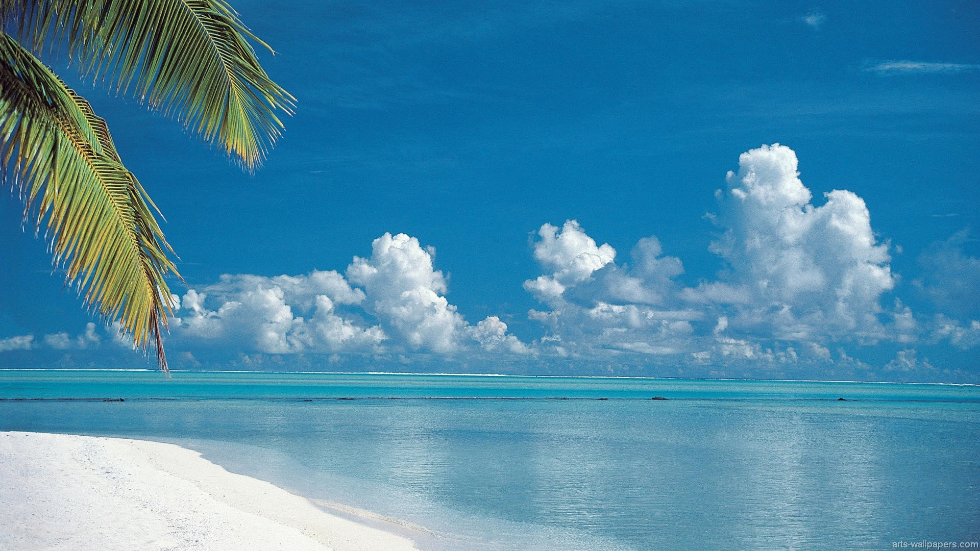 1920x1080 New Desktop Wallpapers (Tropical Beach, Aitutaki, Cook Islands)