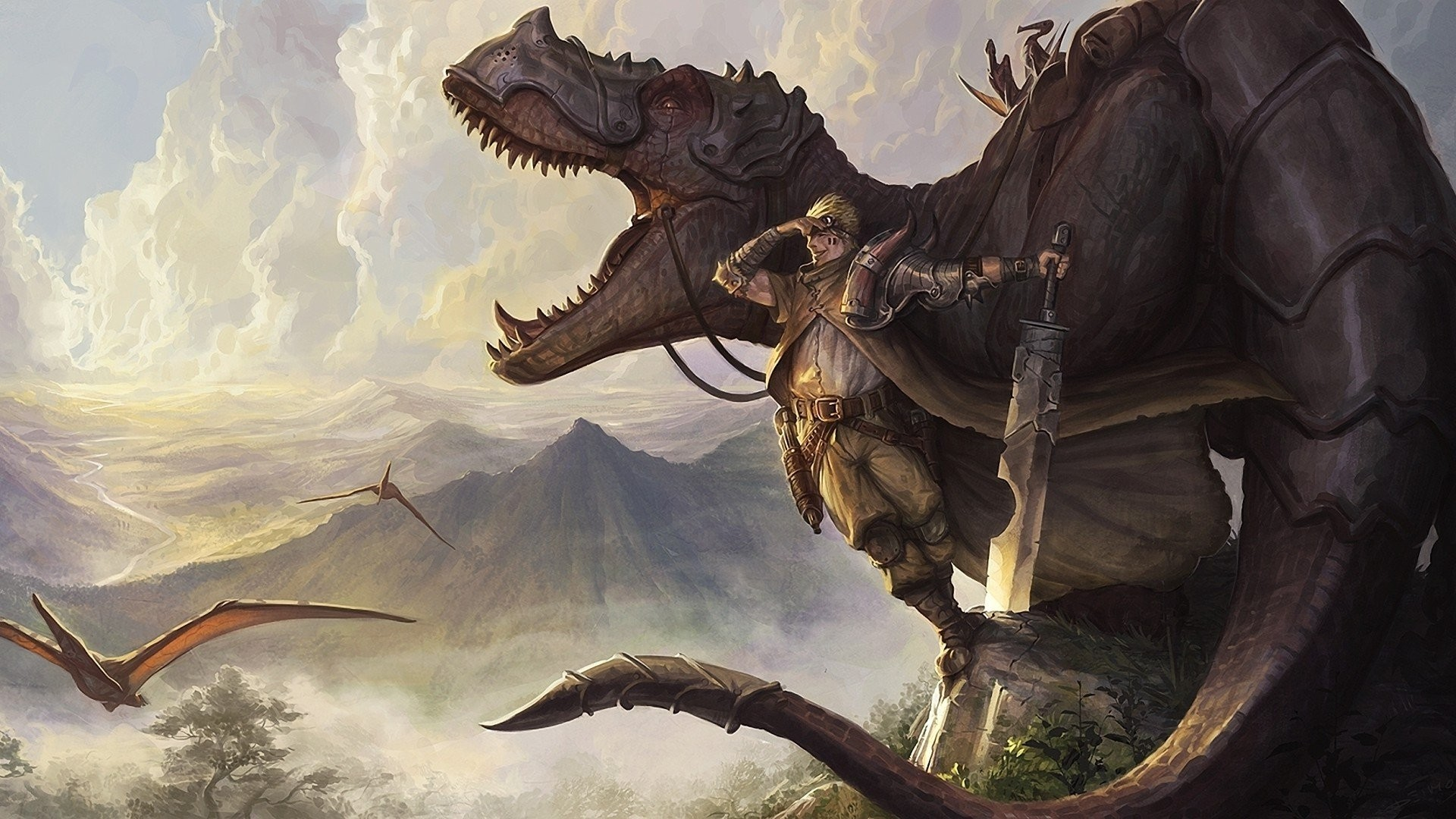 1920x1080 Dinosaurs Weapons Fantasy Art » WallDevil - Best free HD desktop and mobile  wallpapers
