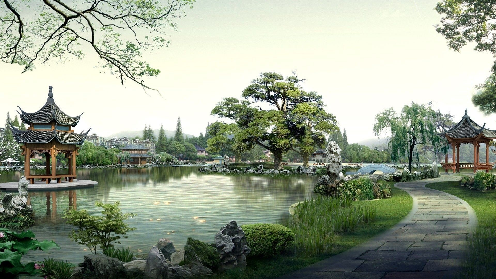 Delicieux 1920x1080 Japanese Garden Kyoto HD Desktop Wallpaper Widescreen High | HD  Wallpapers | Pinterest | Hd