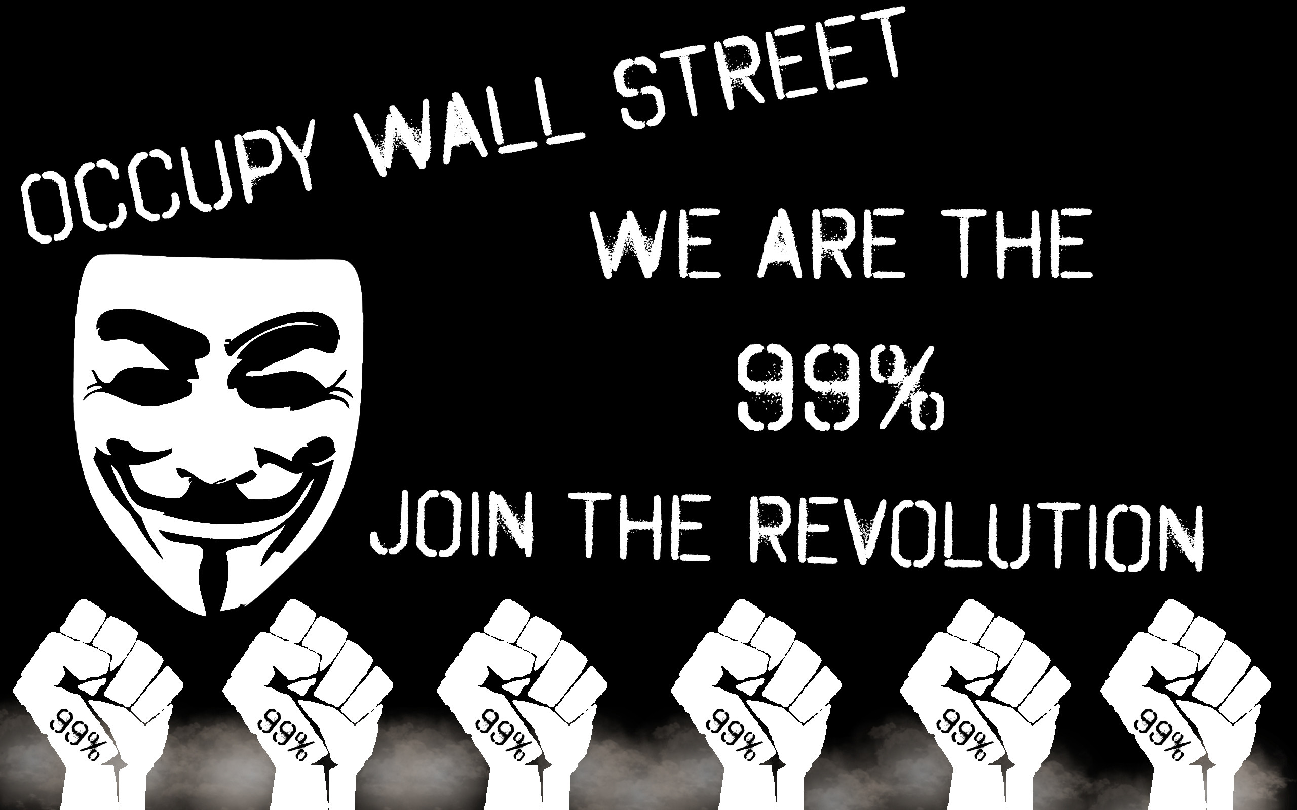 2560x1600 ... Occupy Wall Street Wallpaper by Silver-Xombie