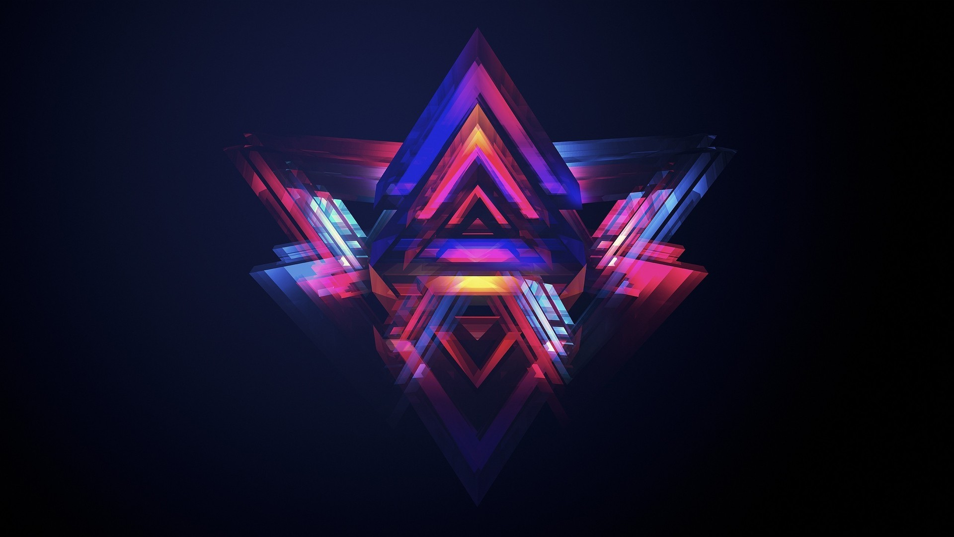 1920x1080 neon pyramids abstract hd wallpaper 1920×1080 3371. ««