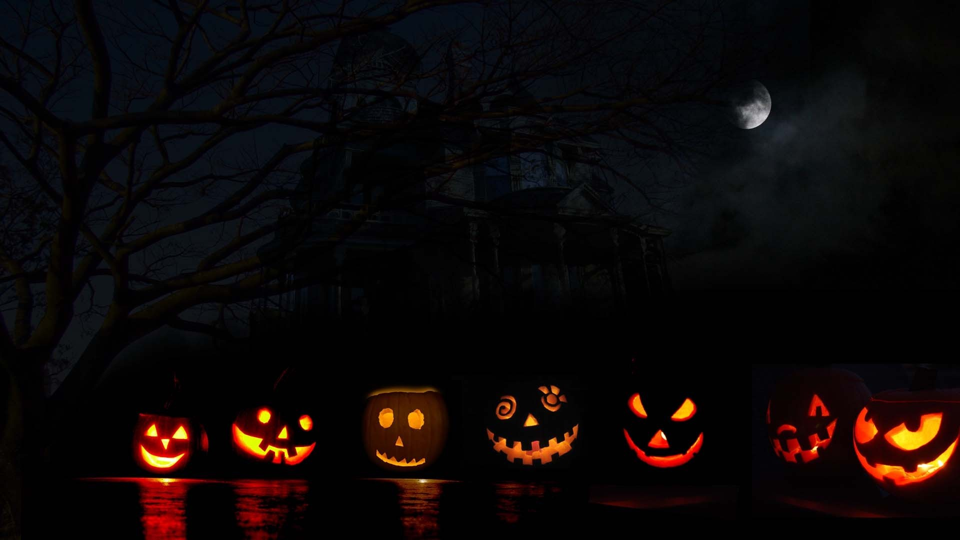 Halloween Background Hd.Scary Halloween Wallpapers For Desktop 54 Images