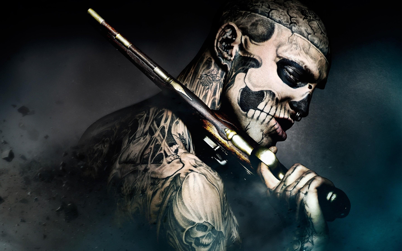 Tattoo Men Wallpaper 9 Screensaver Tattoos Originals Zombie Pictures