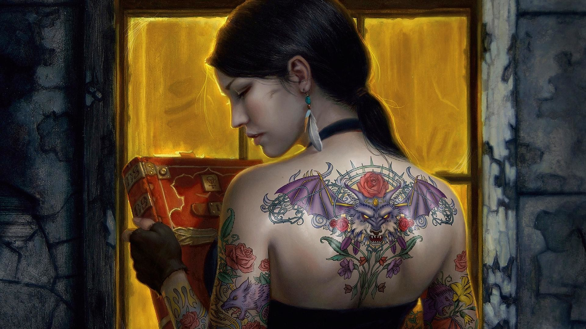 1920x1080 Tattoo Girls Designs HD Wallpaper of Tattoos
