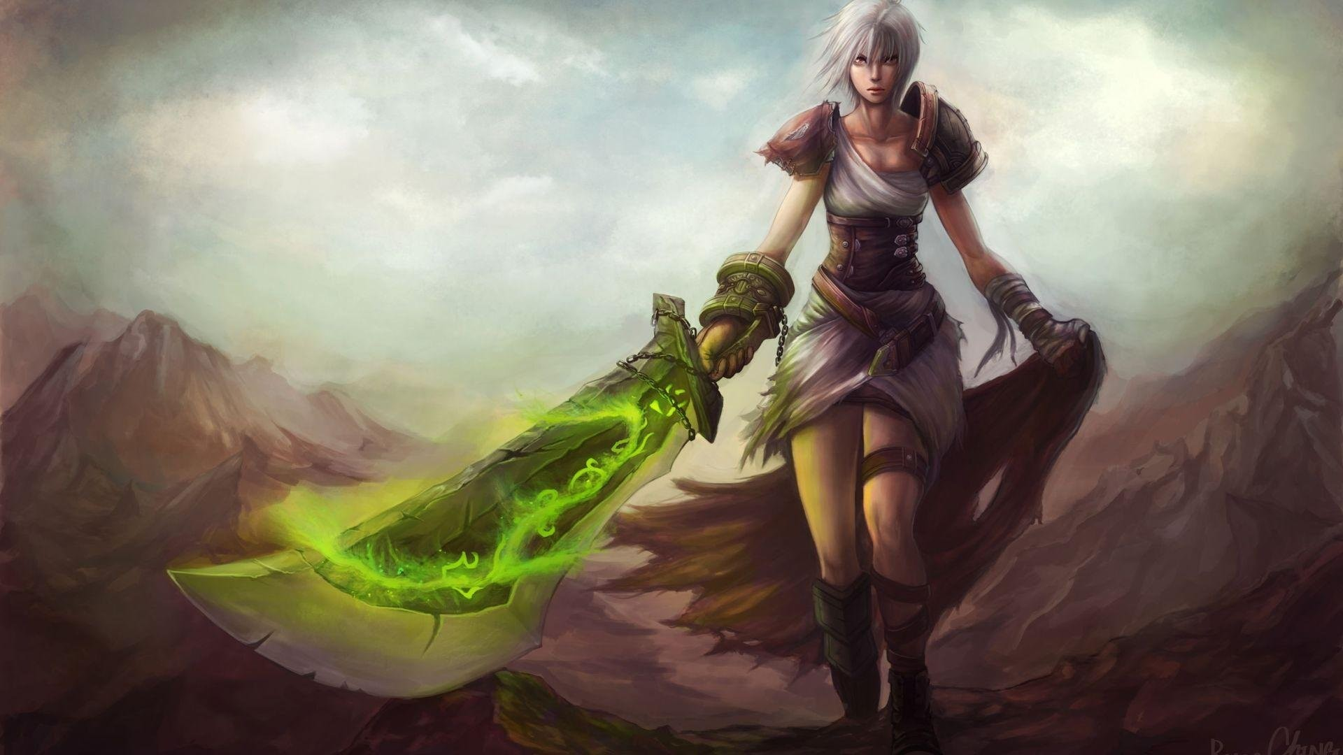 1920x1080 League Of Legends Riven 512806. SHARE. TAGS: Warrior Anime