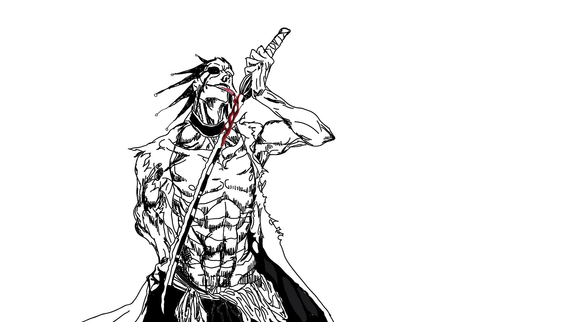1920x1080 Anime - Bleach Kenpachi Zaraki Wallpaper
