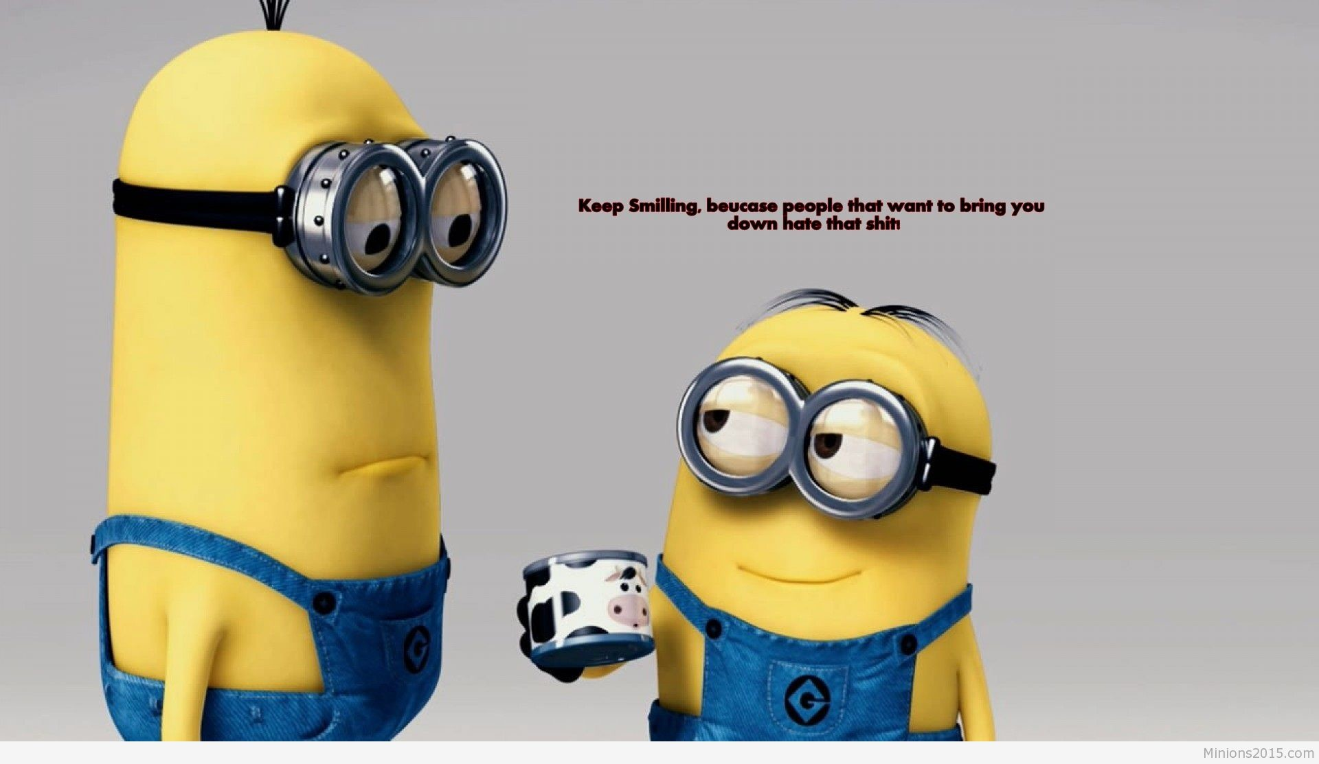 1920x1113 Funny Cartoon wallpaper with minions