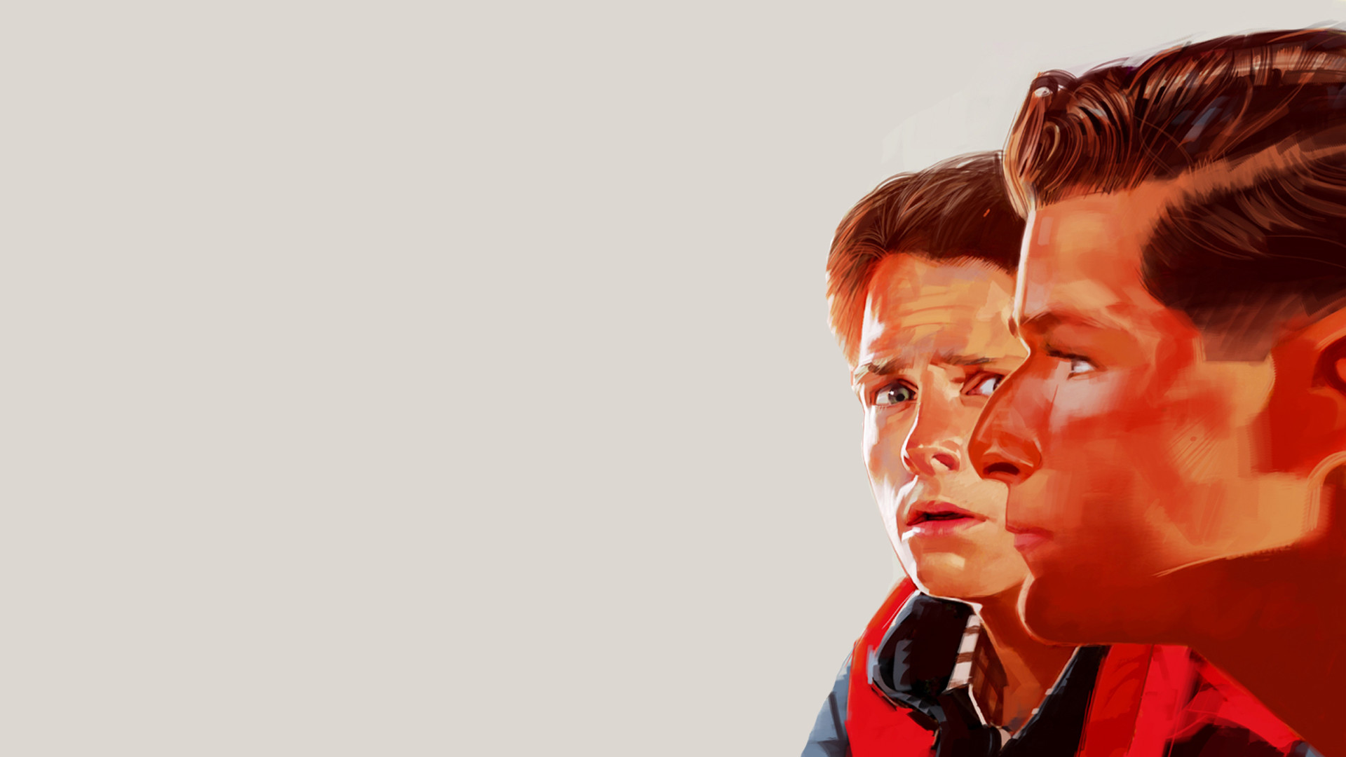 1920x1080  Back to the Future Drawing Michael J Fox Marty McFly HD Wallpaper
