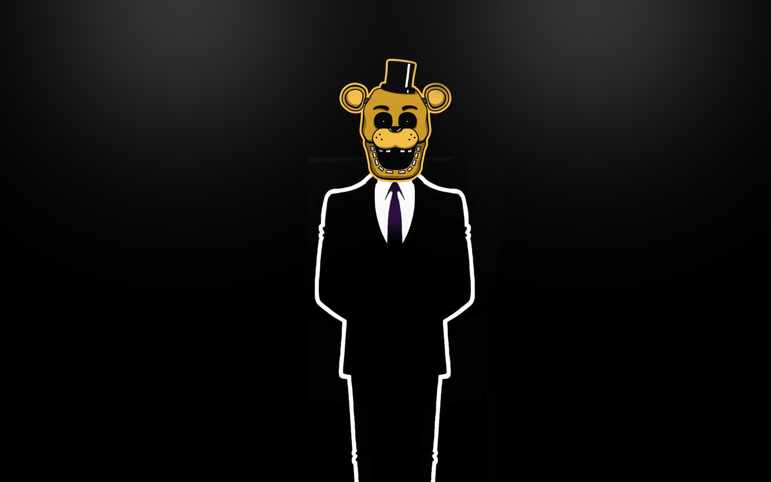 2560x1600 Wallpaper #fnaf, #goldenfreddy, #minimalism wallpapers minimalism .