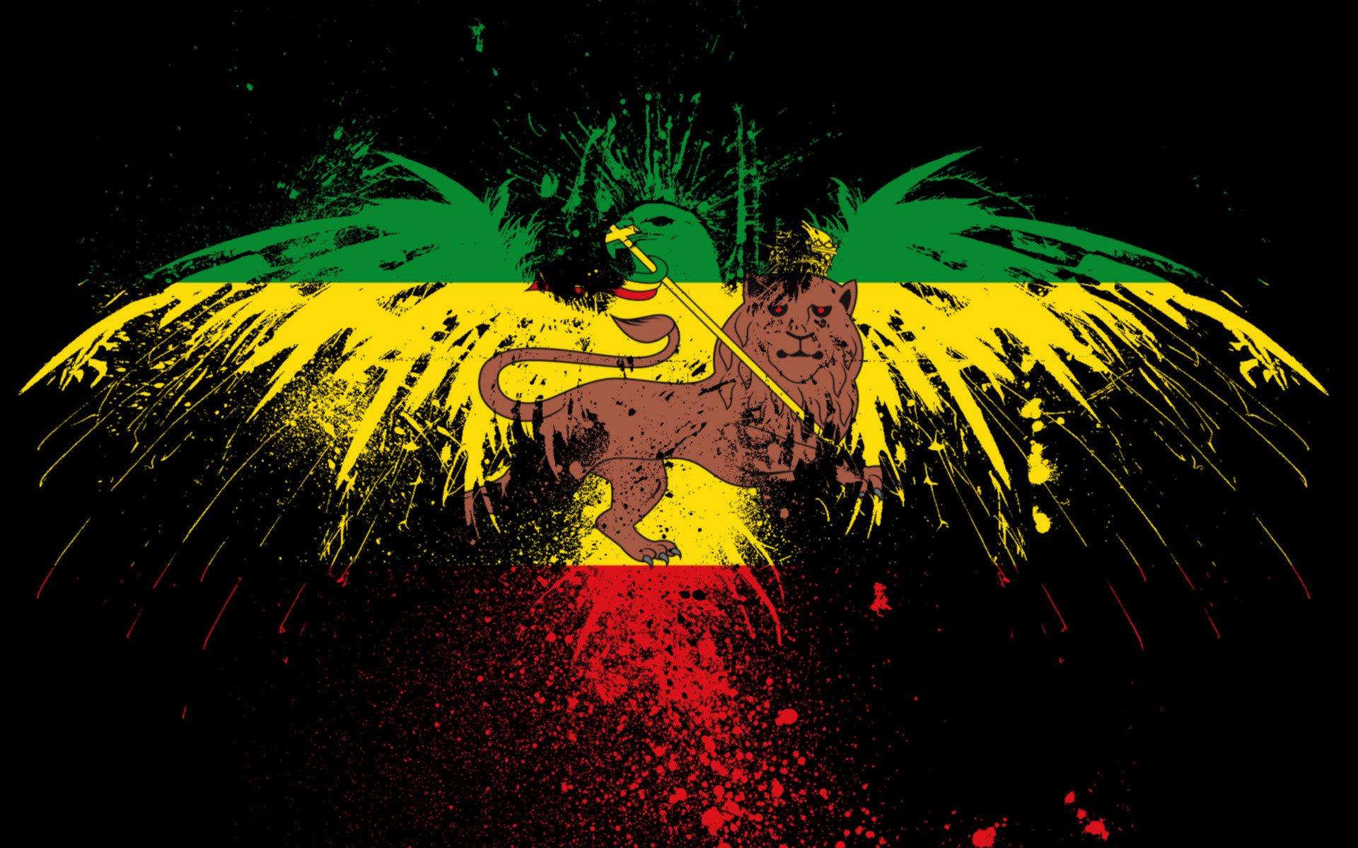 1920x1200 Rasta Background · Rasta Lion Wallpaper ...