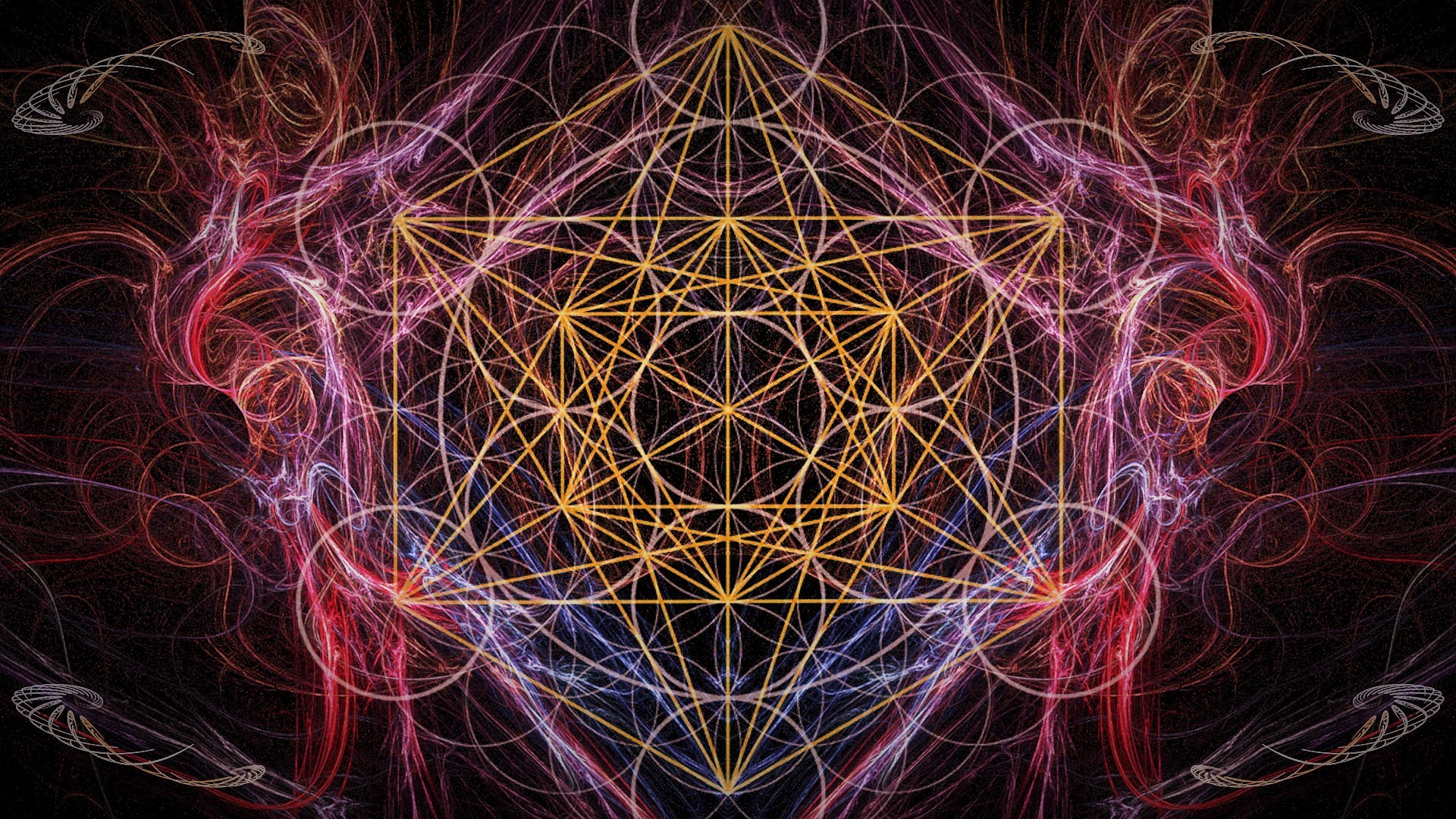 1920x1080 However, to get a better idea of what Metatron's Cube really looks like,  you have to imagine this image in infinite motion, spinning simultaneously,  ...