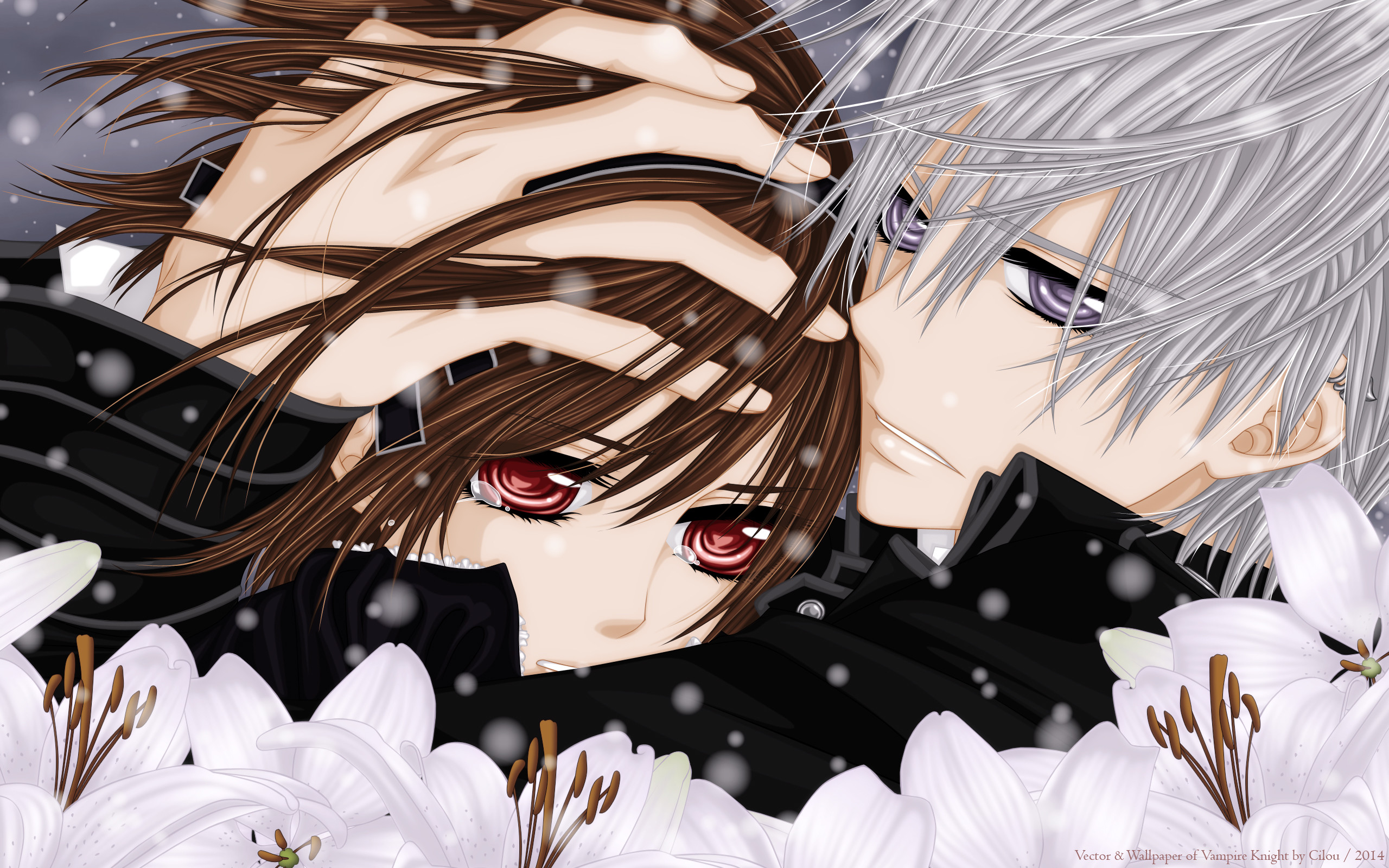 2560x1600 Tags Anime Vampire Knight Kiryuu Zero Yuki Cross Wallpaper