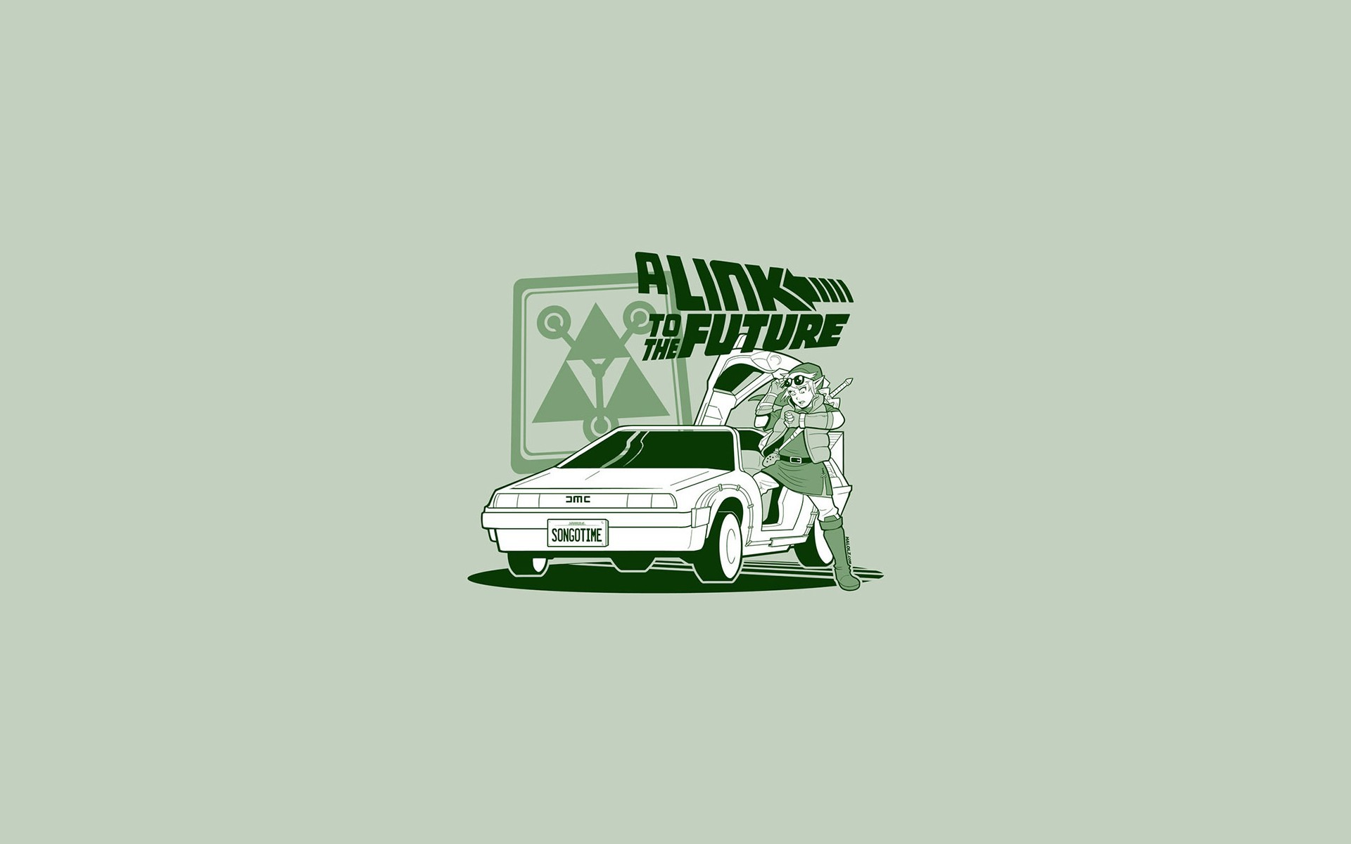 1920x1200 Back To The Future Cars Cartoons Comics DeLorean DMC-12 Doc Brown Funny  Link Marty McFly Spoof Legend Of Zelda