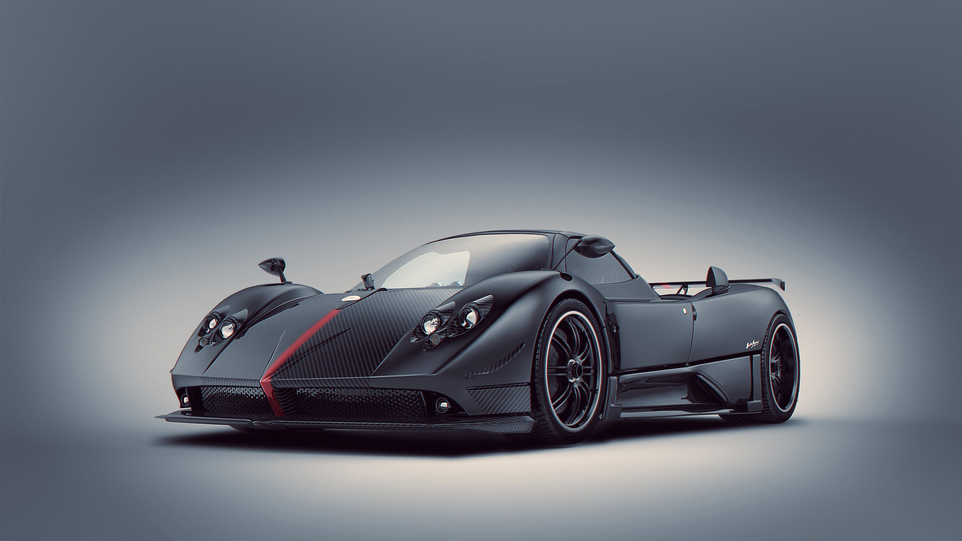 1920x1080 Black and Red Pagani Zonda R - HD Wallpaper