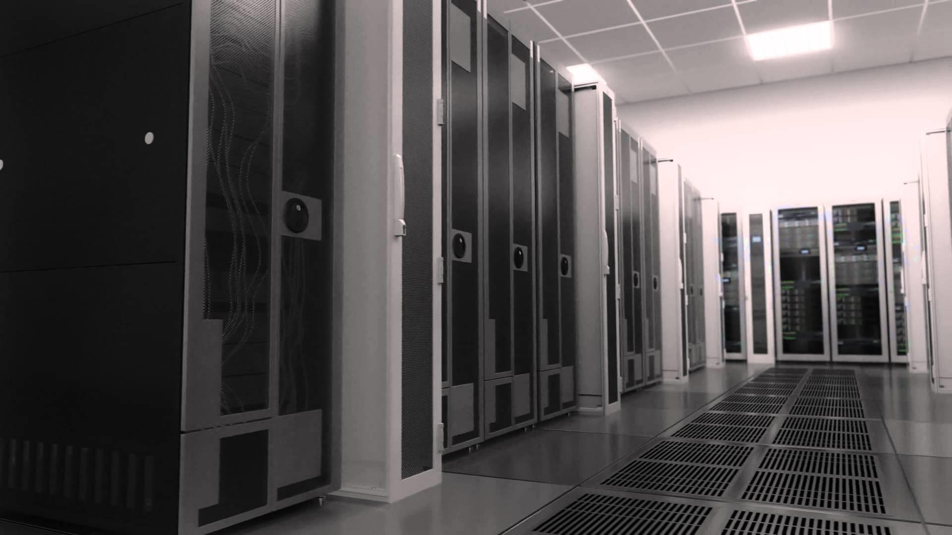 1920x1080 Web Server Room - Electronics Industry Background