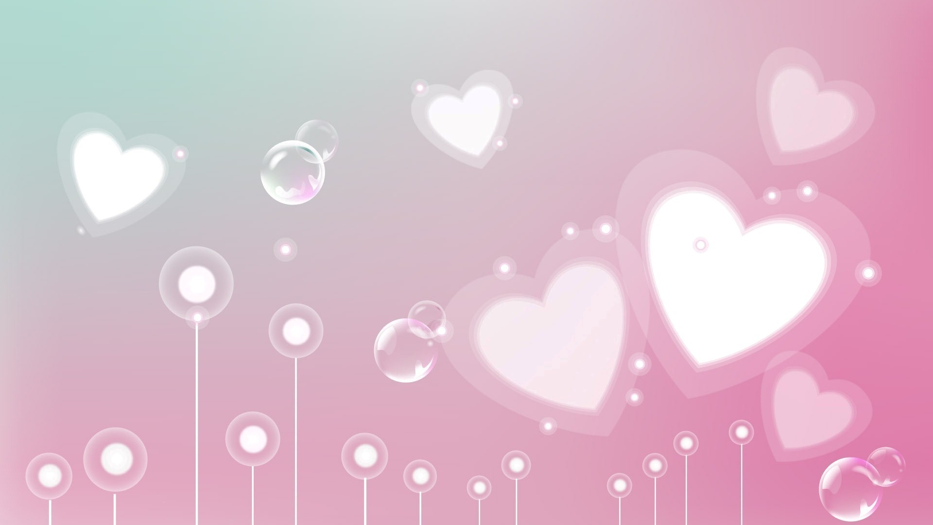 1920x1080 pink heart background - Google Search