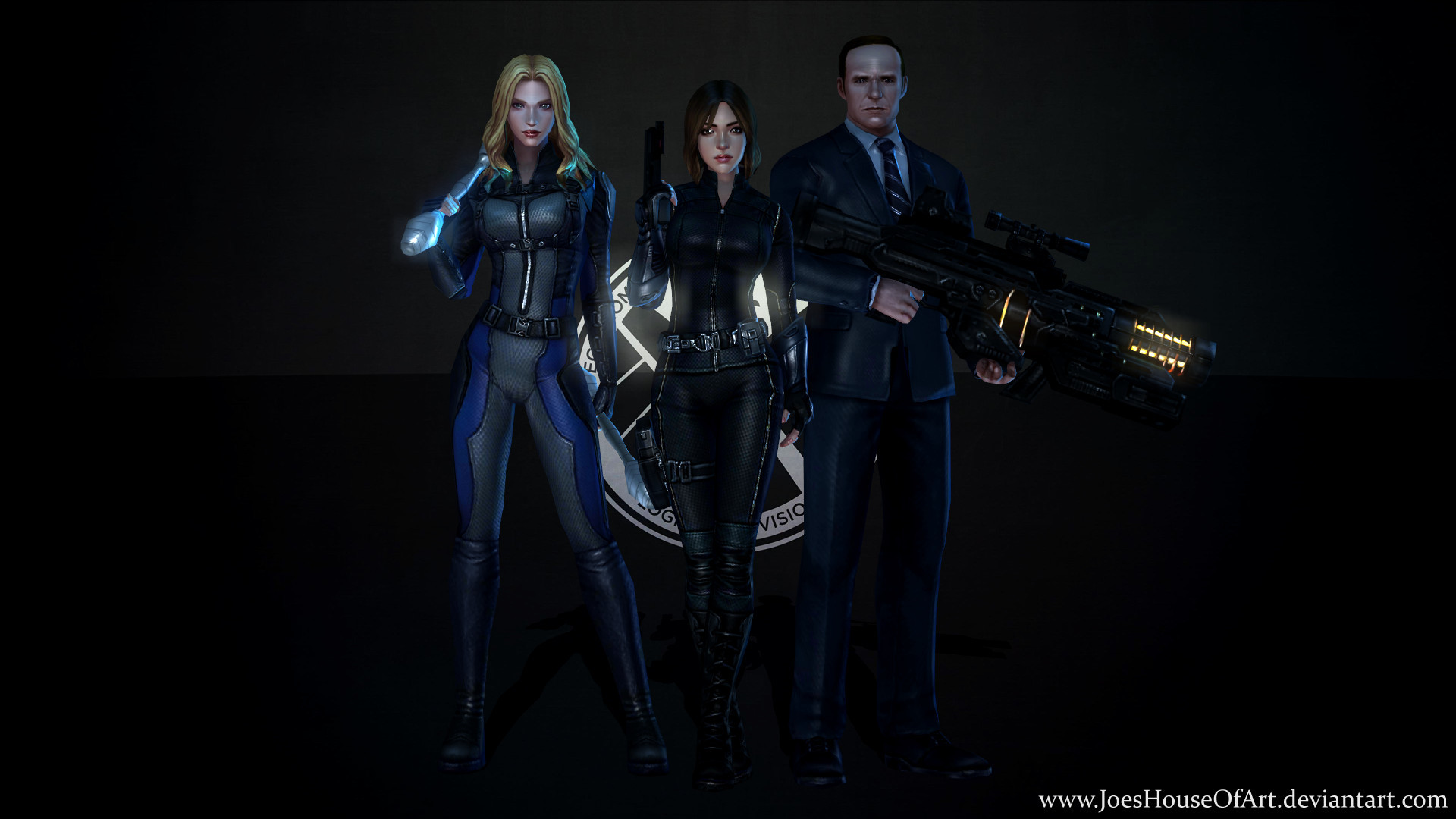 1920x1080 ... Marvel's Agents of SHIELD - Game Wallpaper by ShaunsArtHouse