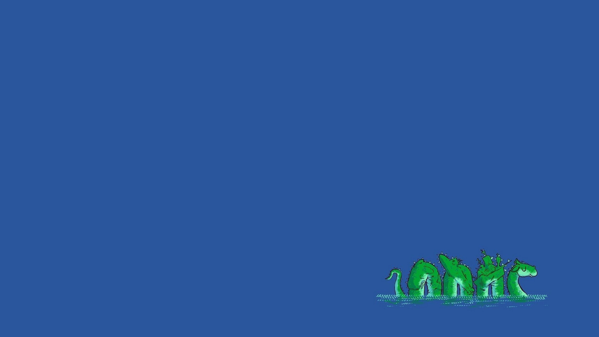 1920x1080 Loch Ness Monster, Minimalism, Blue background Wallpapers HD / Desktop and  Mobile Backgrounds