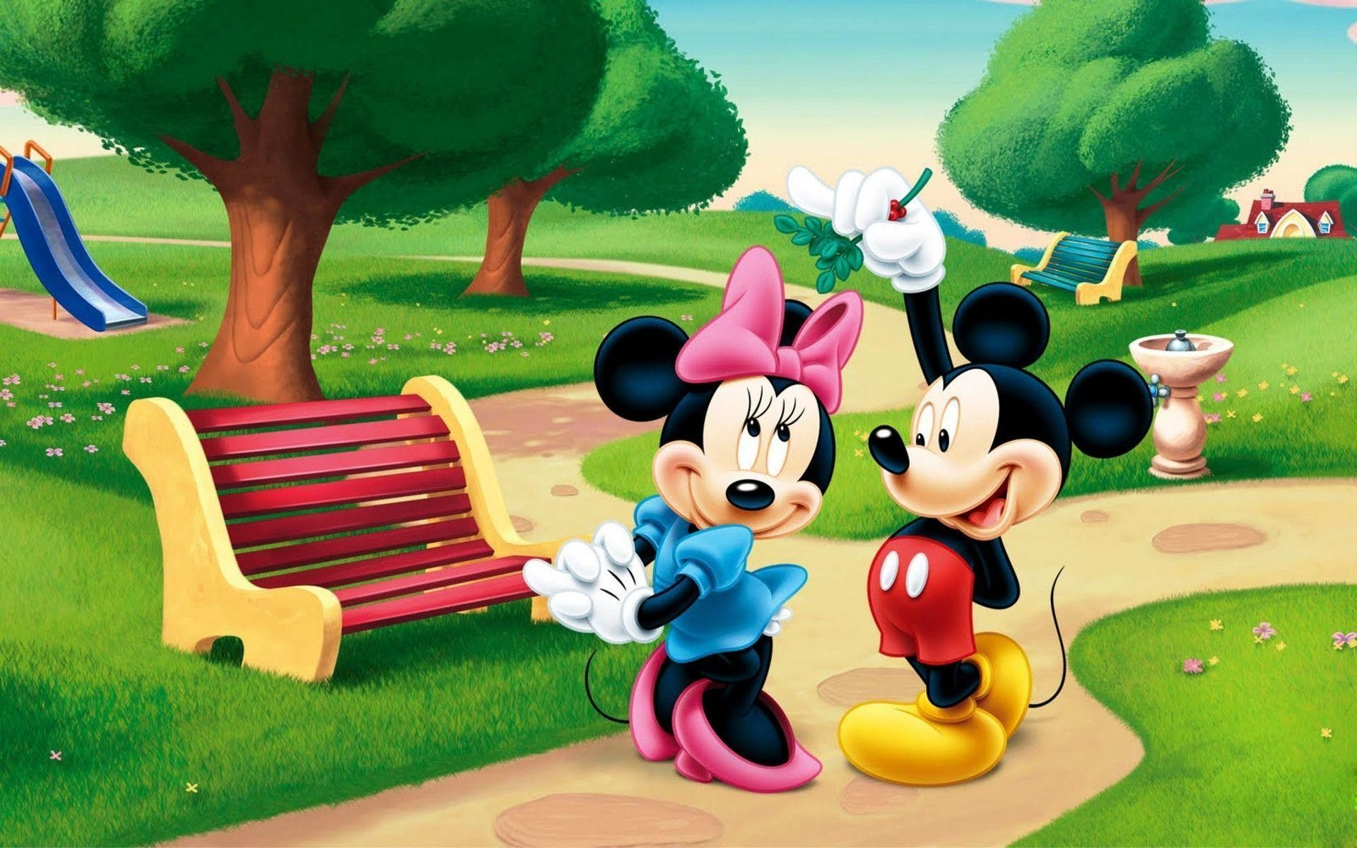 1920x1200 Wallpapers For > Minnie Mouse And Mickey Mouse Wallpaper