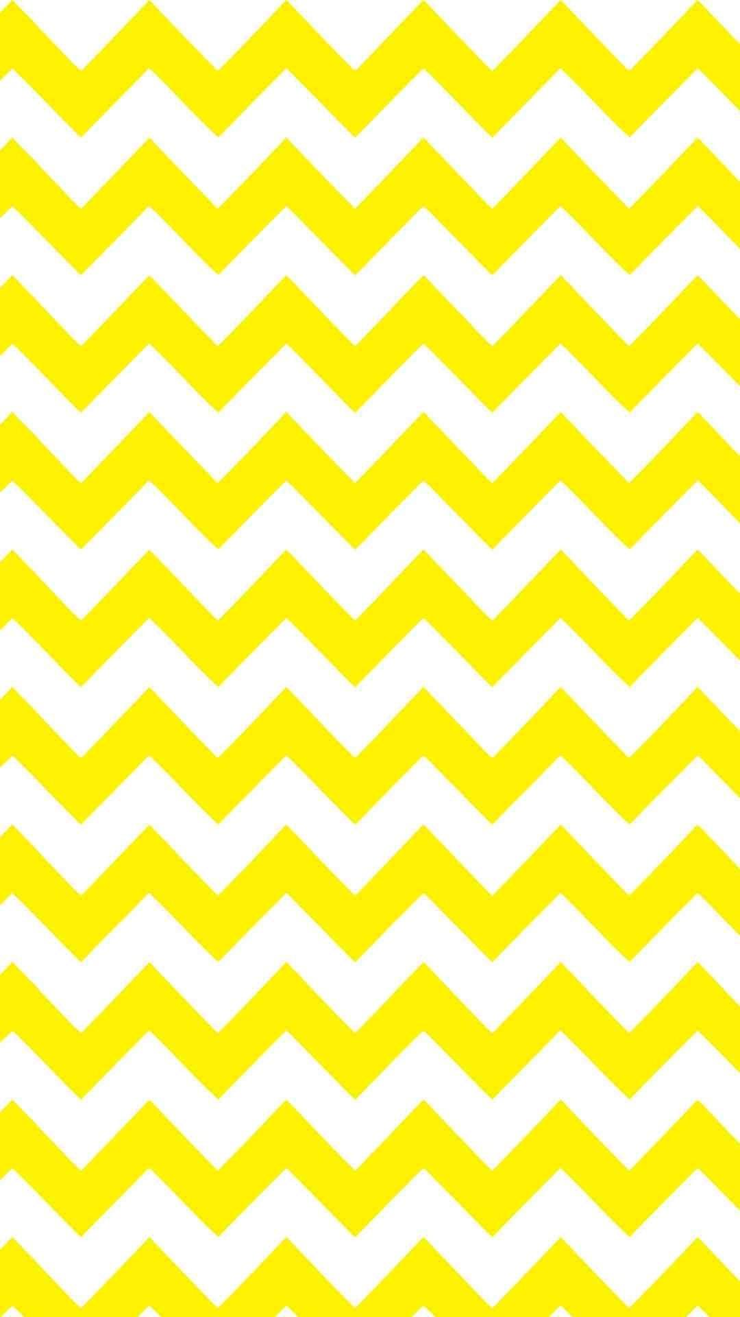 1080x1920 Yellow And White Chevron IPhone 6 Plus Wallpaper   Zigzag  Pattern, #iPhone #
