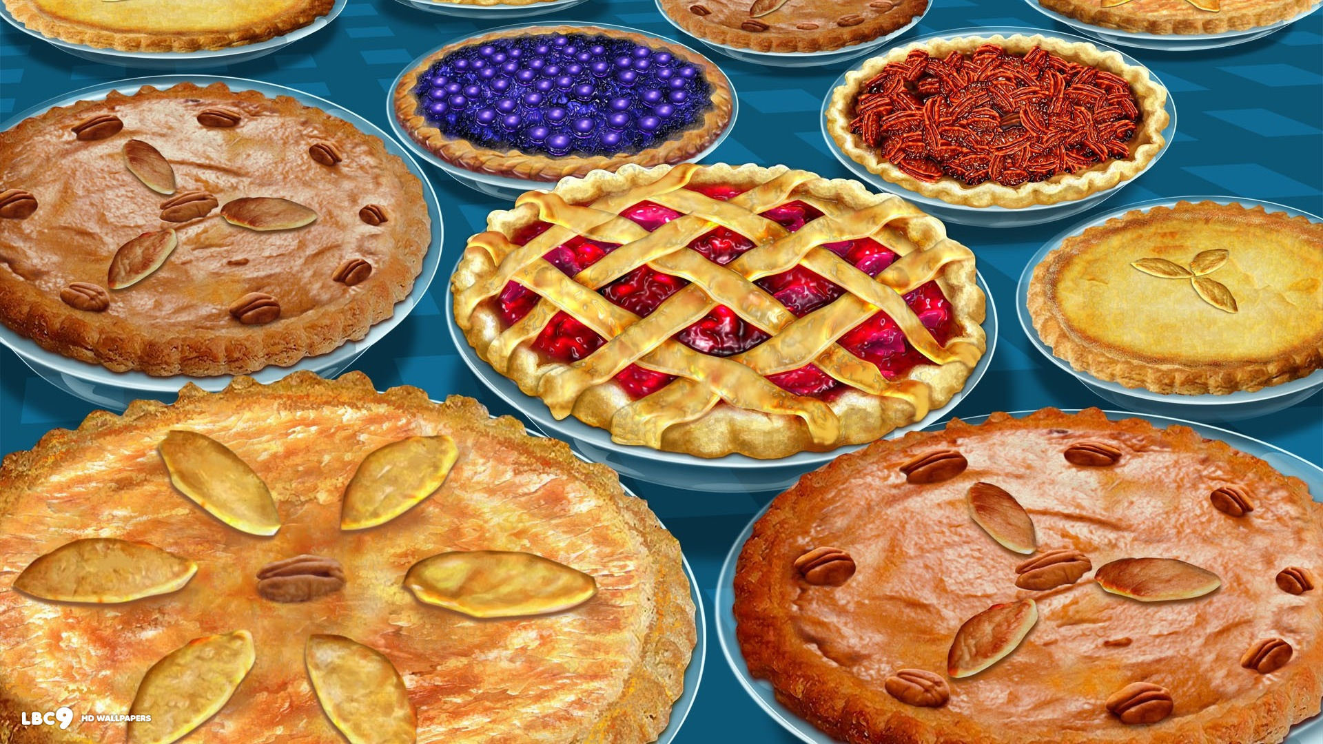 1920x1080 thanksgiving pies pumpkin apple pecan cranberry sweet potato yummy holiday  1920