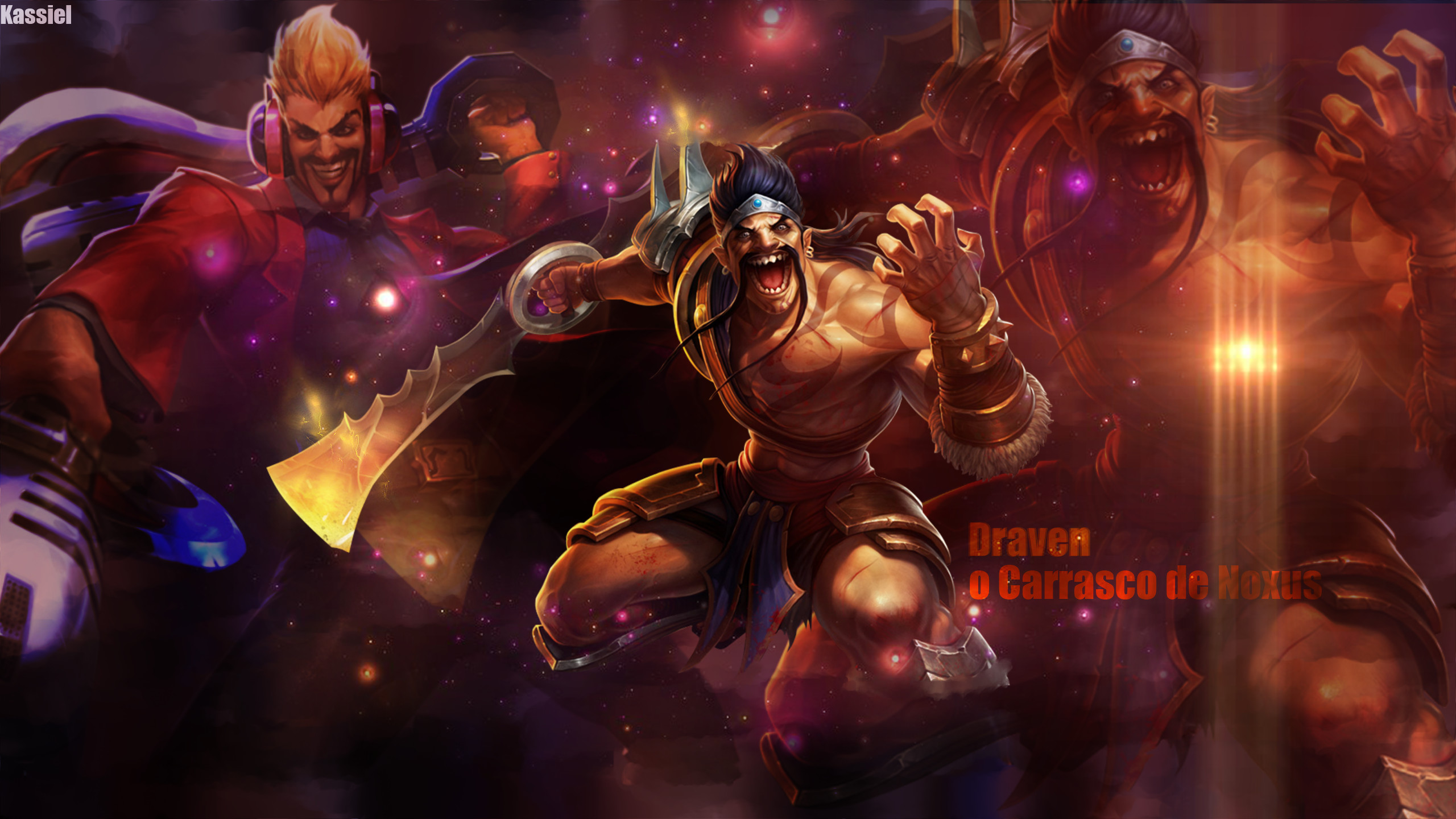 2560x1440 Draven, the Glorious Executioner Wallpaper - Draven, o Carrasco de Noxus  Wallpaper