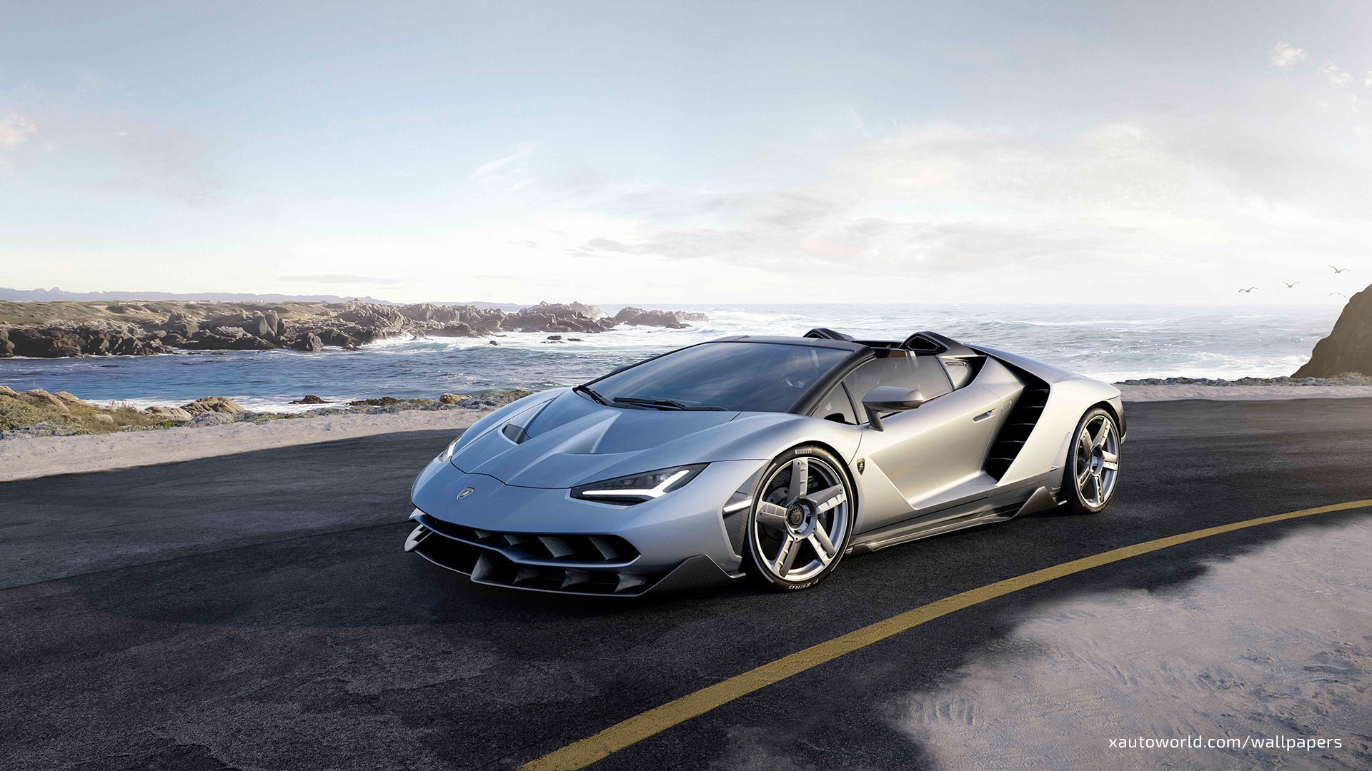 1920x1080 Centenario Roadster Wallpaper - Gray Front ...