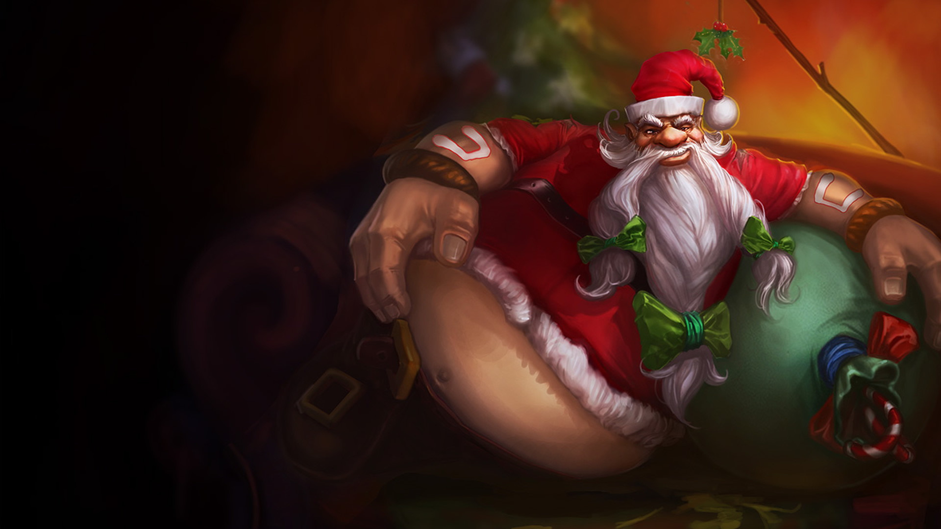 1920x1080 Santa Gragas wallpaper