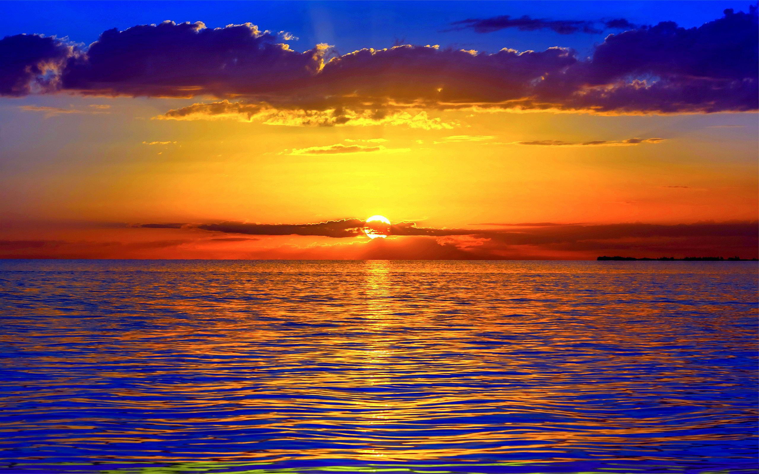 2560x1600 Only the best free ocean sunsets wallpapers you can find online! Ocean  sunsets wallpapers and background images for desktop, iPhone, Android and  any screen ...