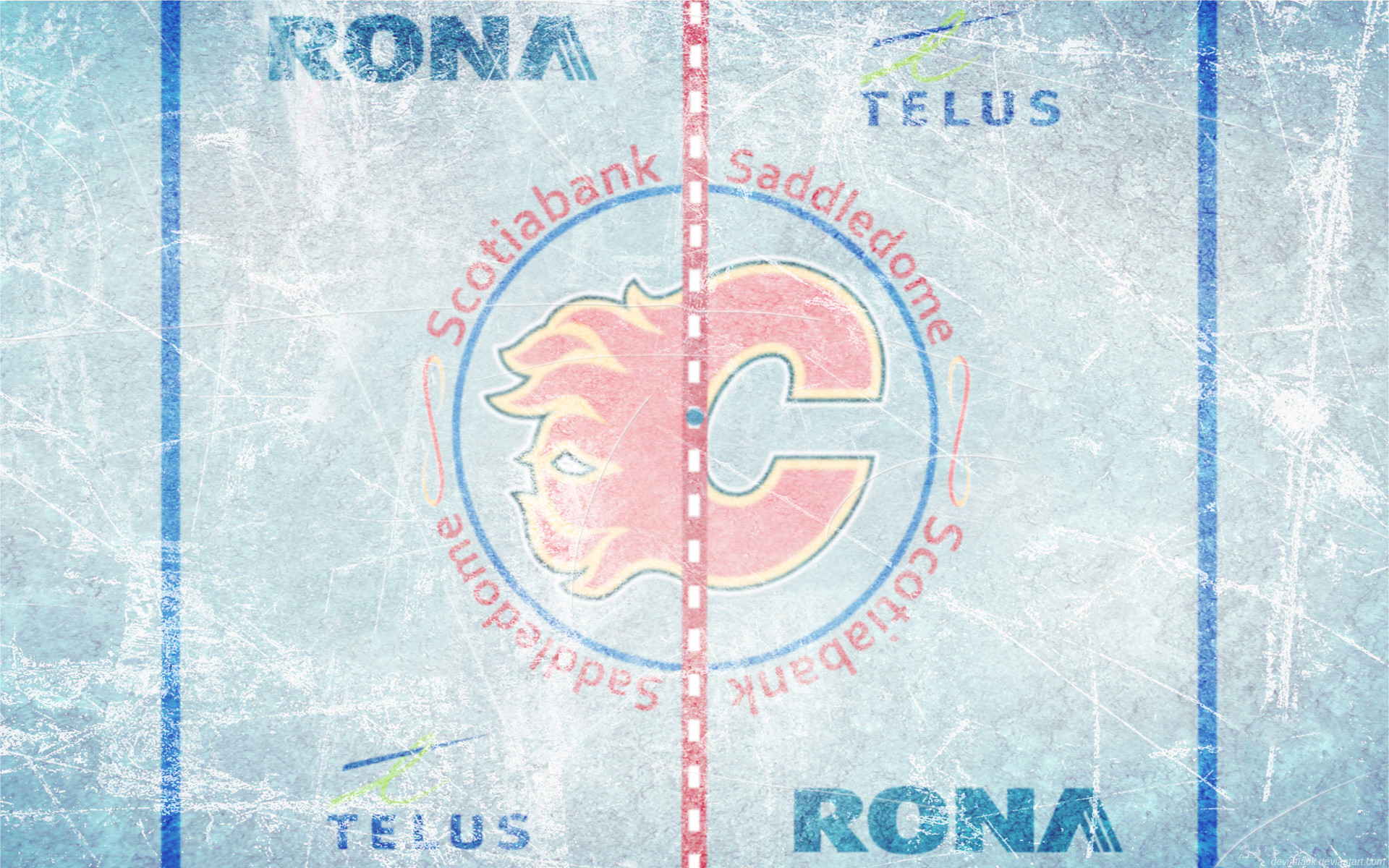 1920x1200 DevinFlack 5 2 Scotiabank Saddledome Ice Wallpaper by DevinFlack