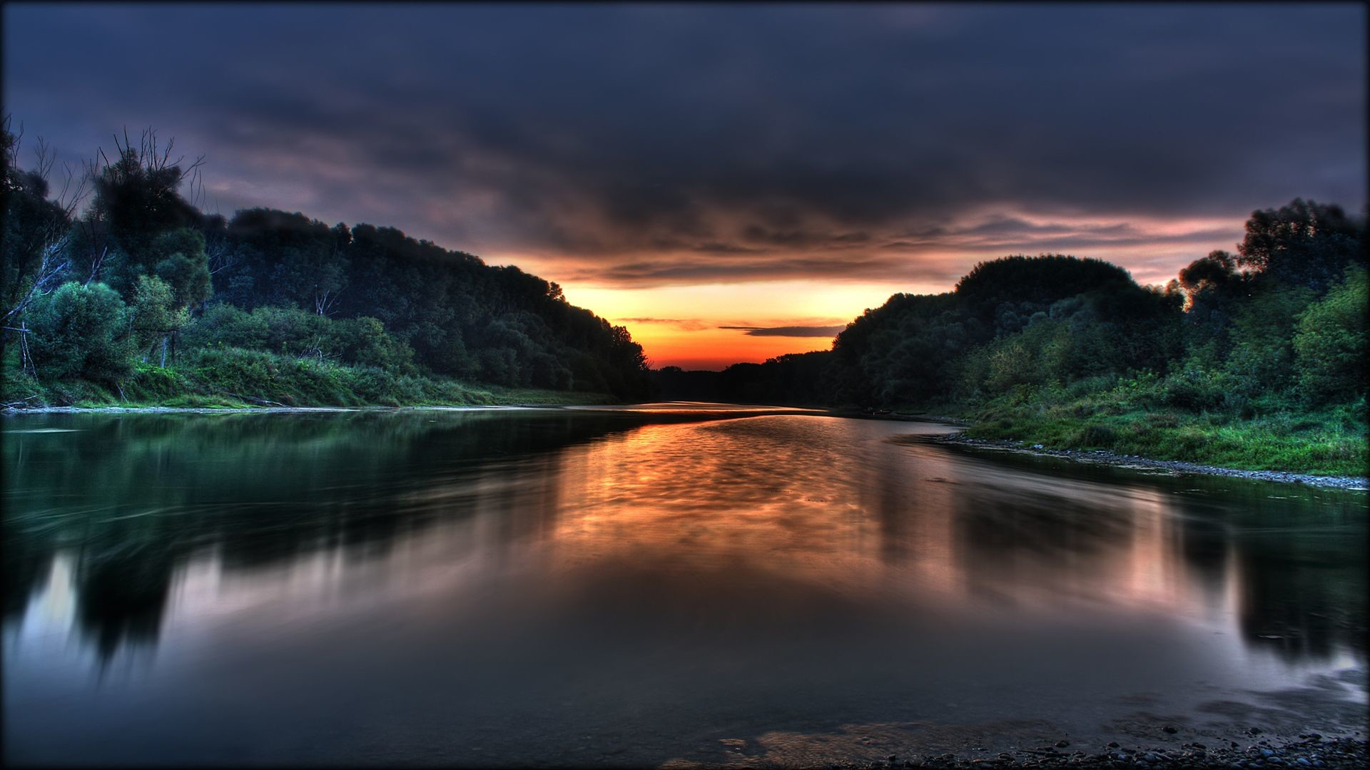 1920x1080 HDTVDonau sunrise HDTV 1080p wallpaper