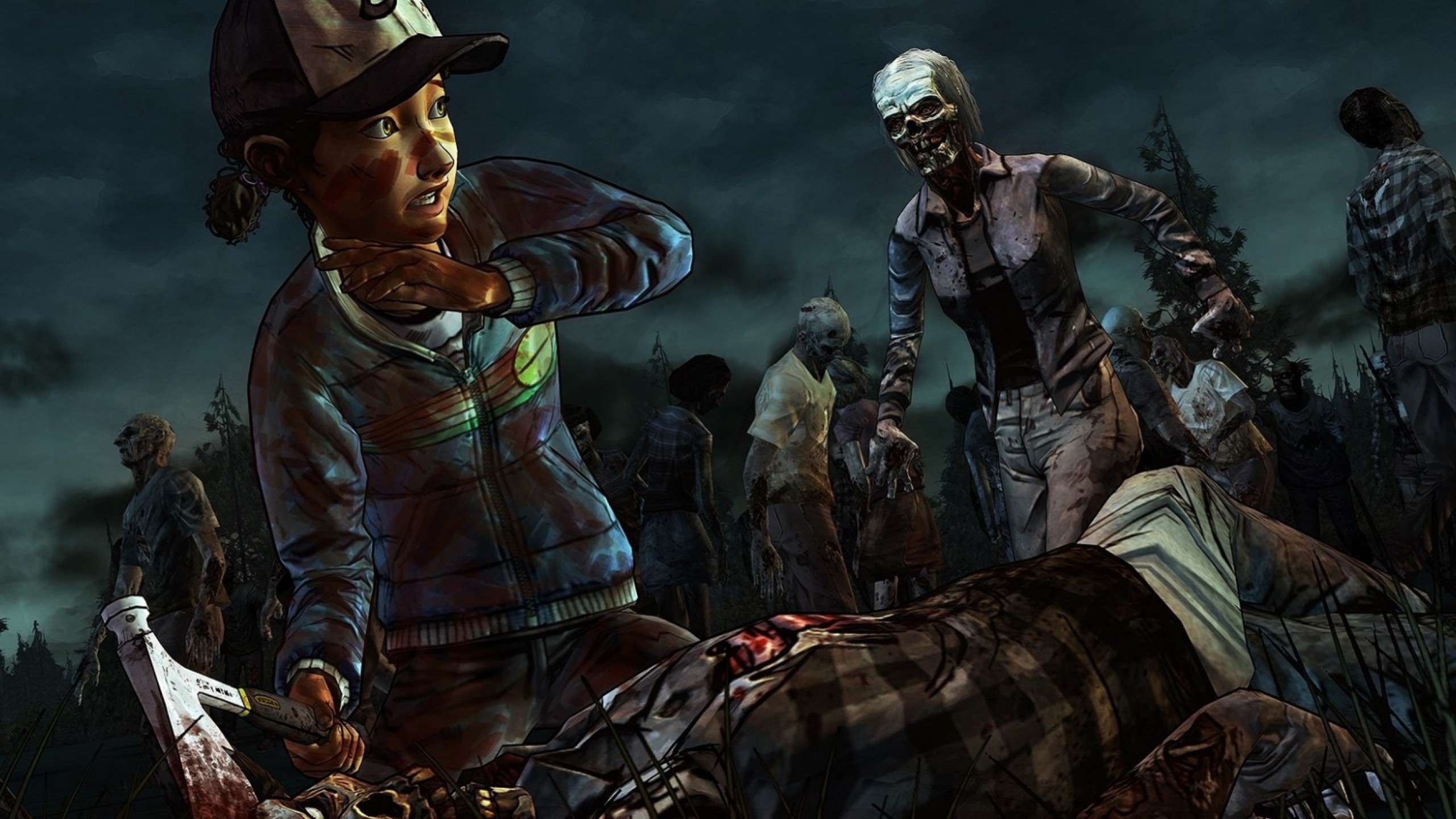 2560x1440  Wallpaper the walking dead a telltale games series, the walking  dead, art,