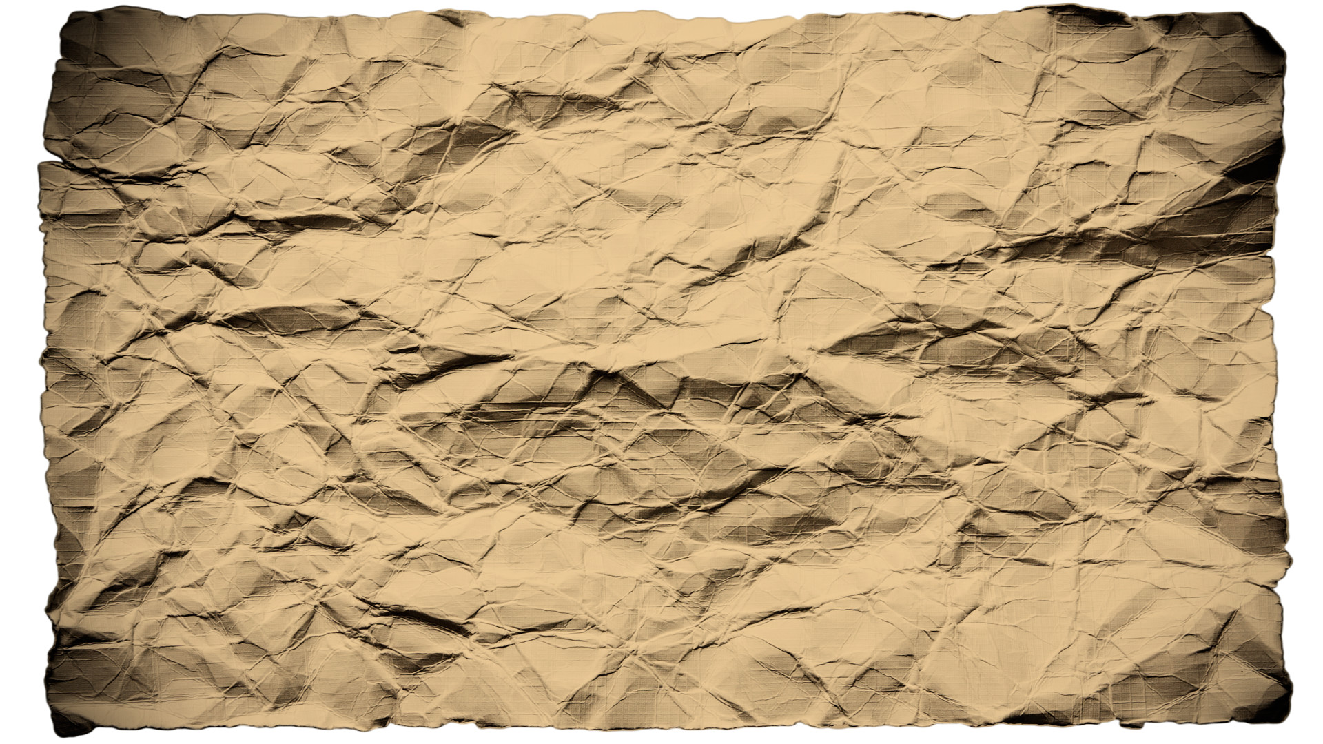 1920x1080 Old Wrinkled Paper Background HD - Paper HD PNG