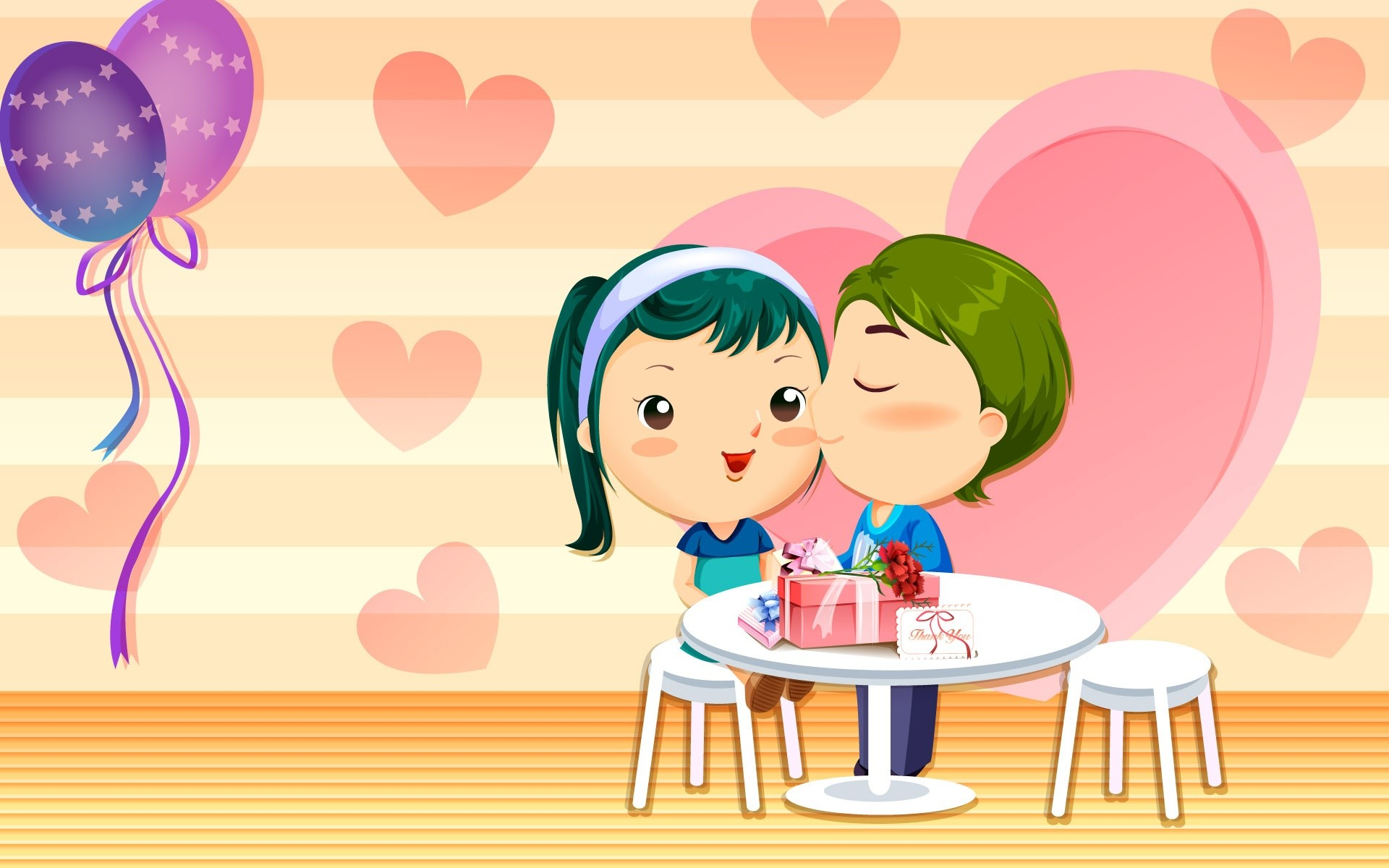 1920x1200 Funny Valentine Day Cartoon Images