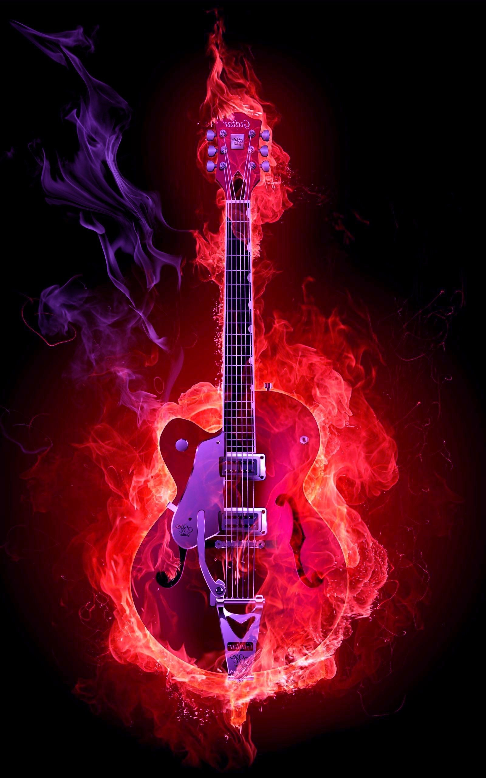 1600x2560 Flame Guitar HD Wallpaper 1600×2560 - High Definition Wallpaper | Daily  Screens id-3331
