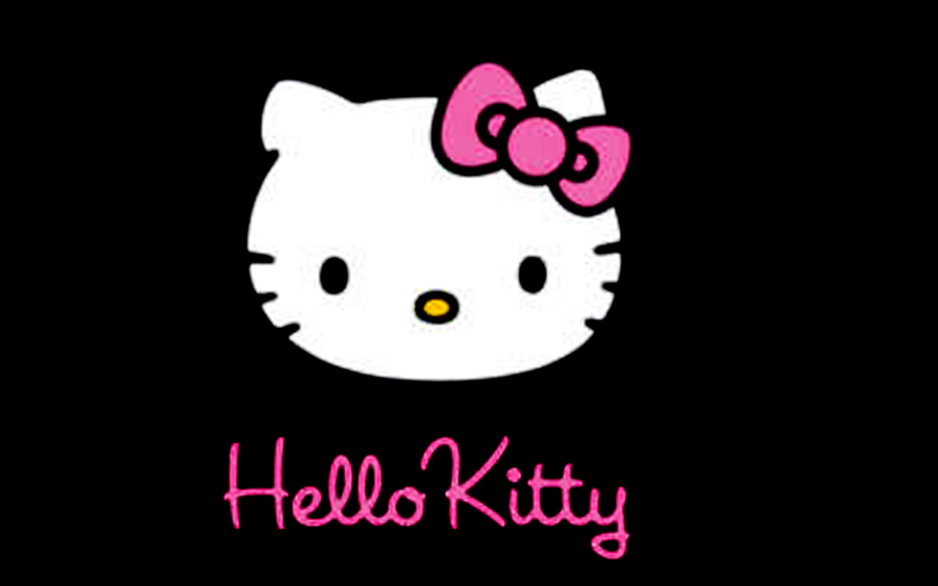 1920x1200 Hello Kitty Black Backgrounds Wallpapers